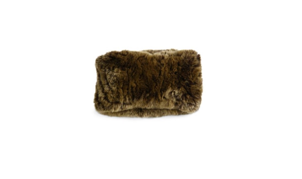 surrel rabbit fur convertible headband