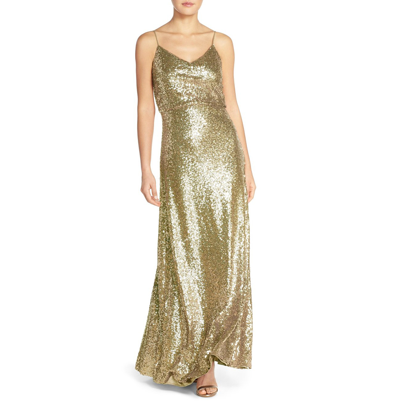 metallic sequin dress