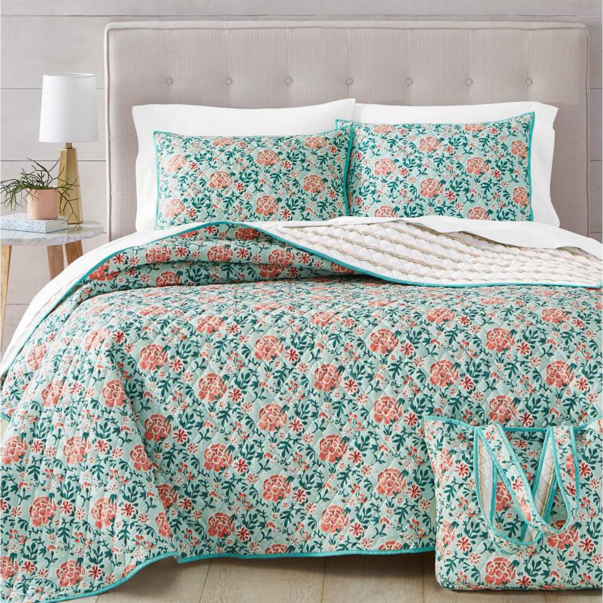 floral quilt set from macys