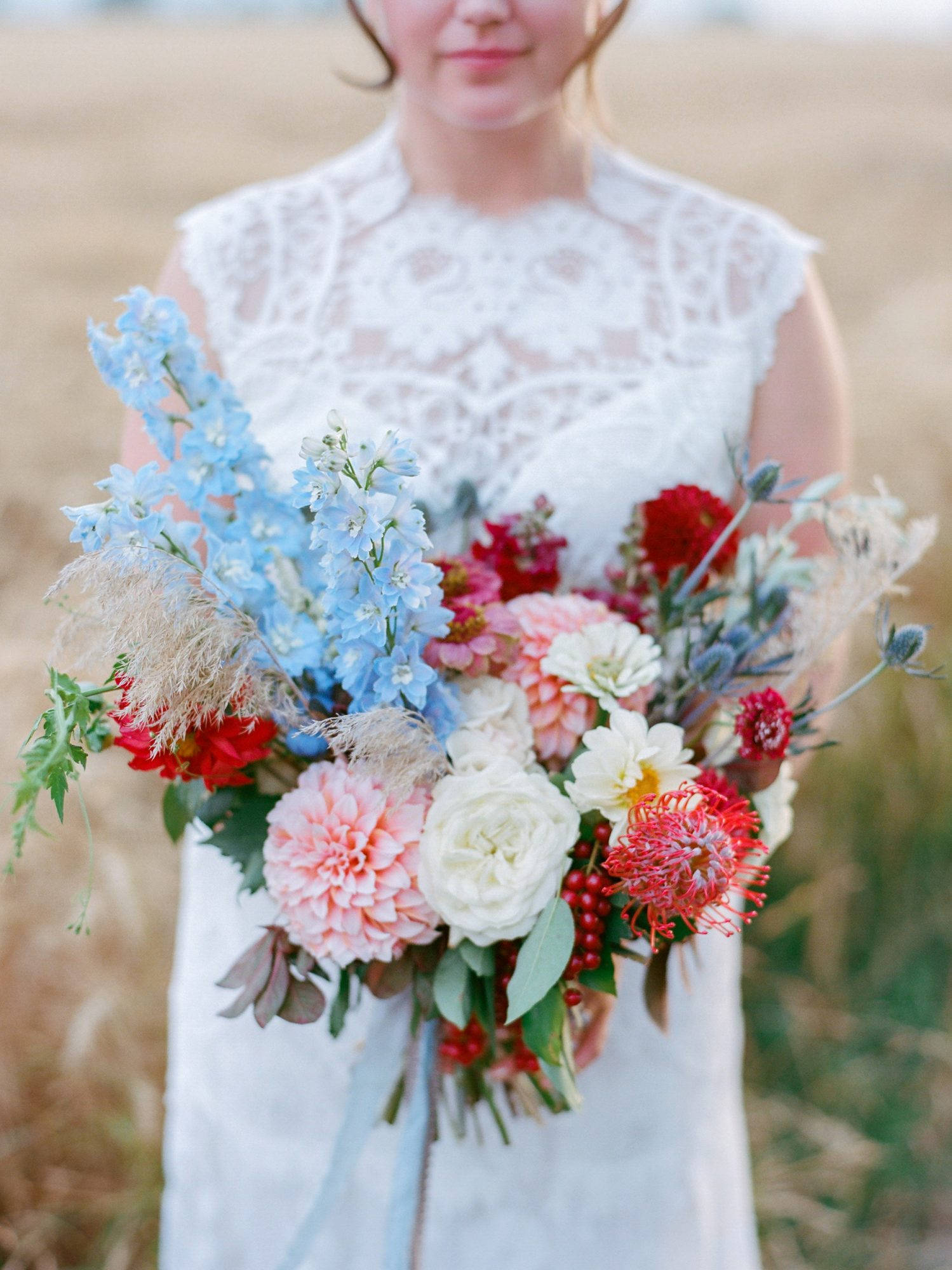 wedding bouquet rustic farm