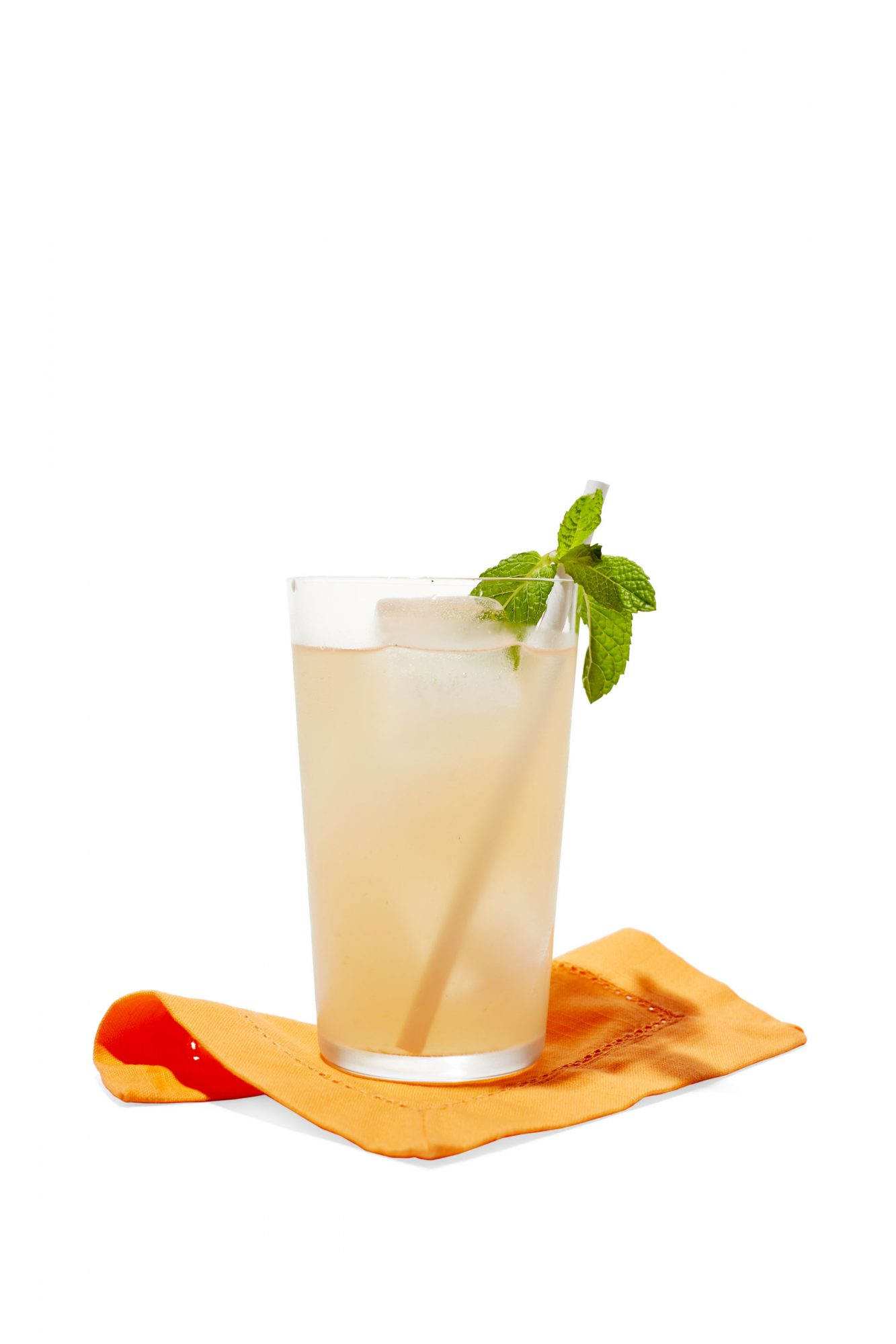 fruity cocktail with mint