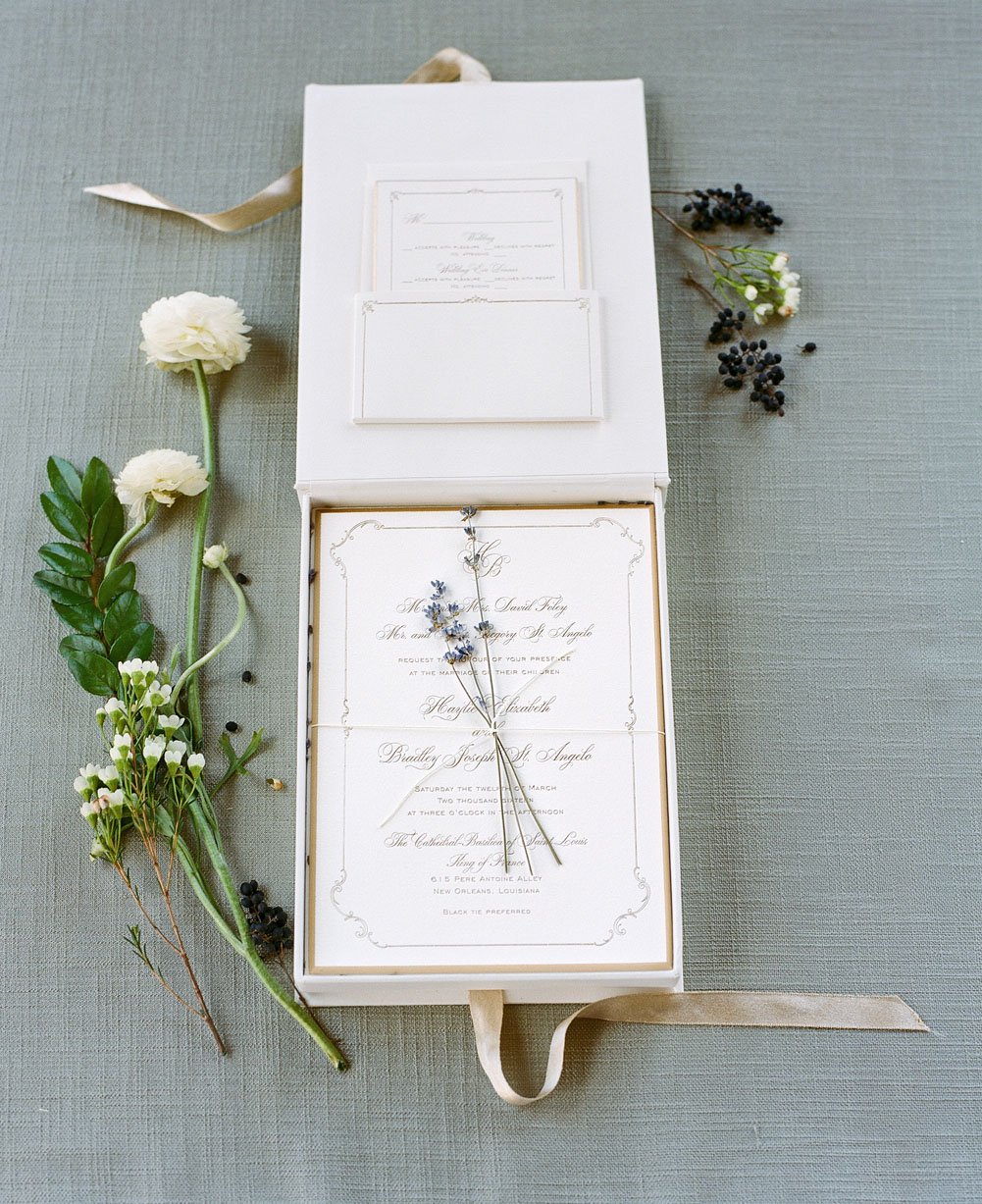 haylie bradley wedding louisiana stationery