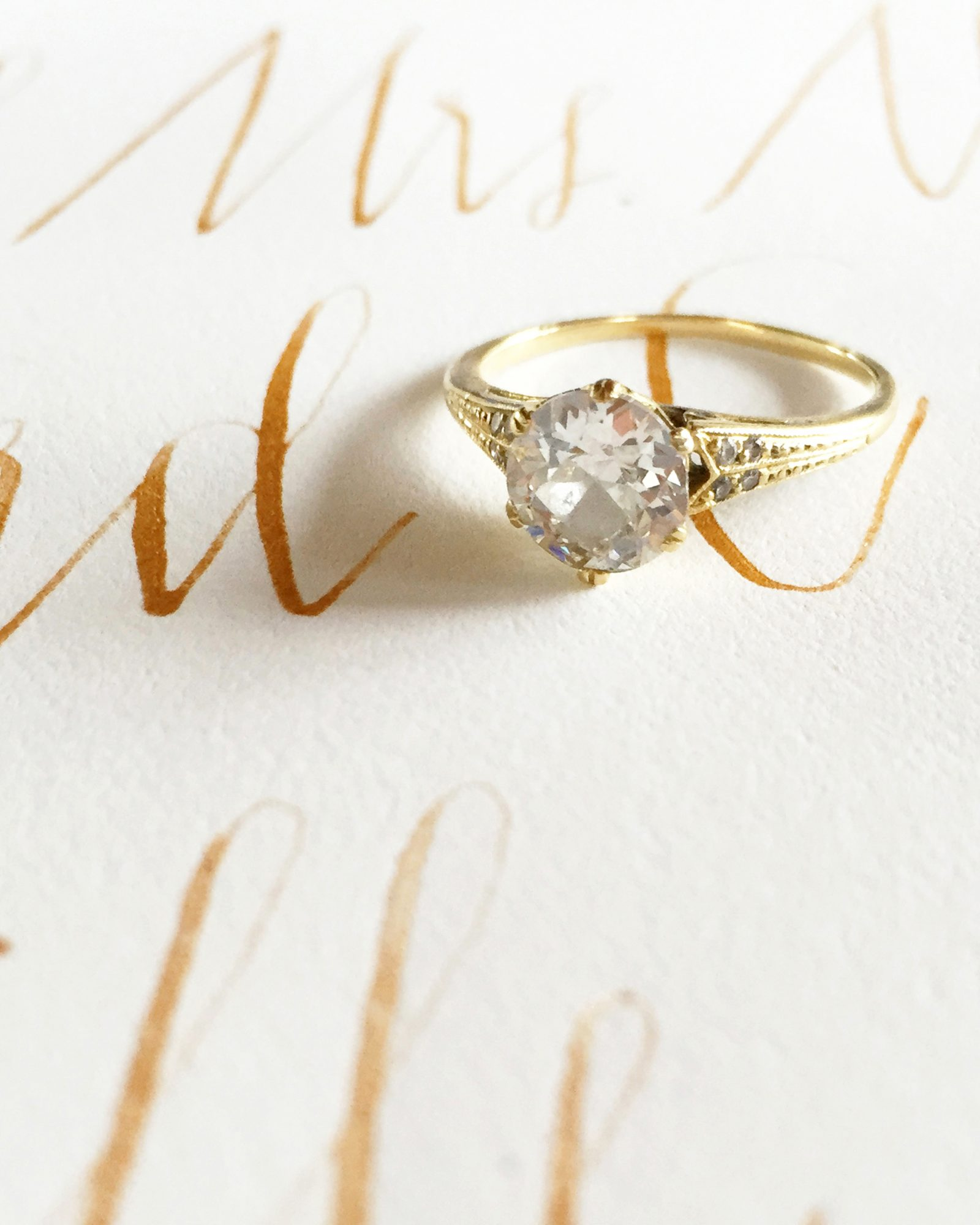jessie and tristan wedding ring calligraphy