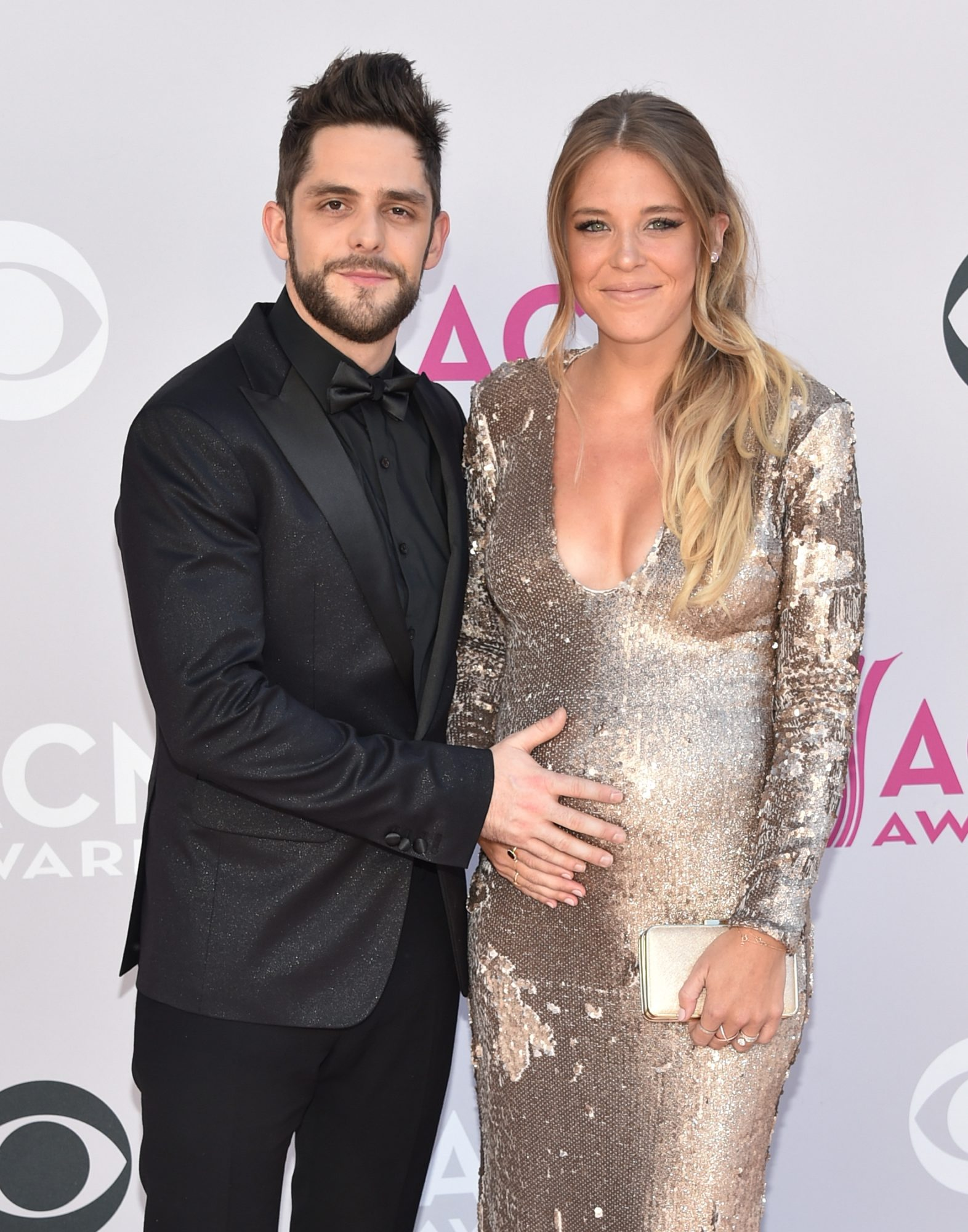 Rhett Thomas and Lauren Gregory Akins at Academy of Country Music Awards