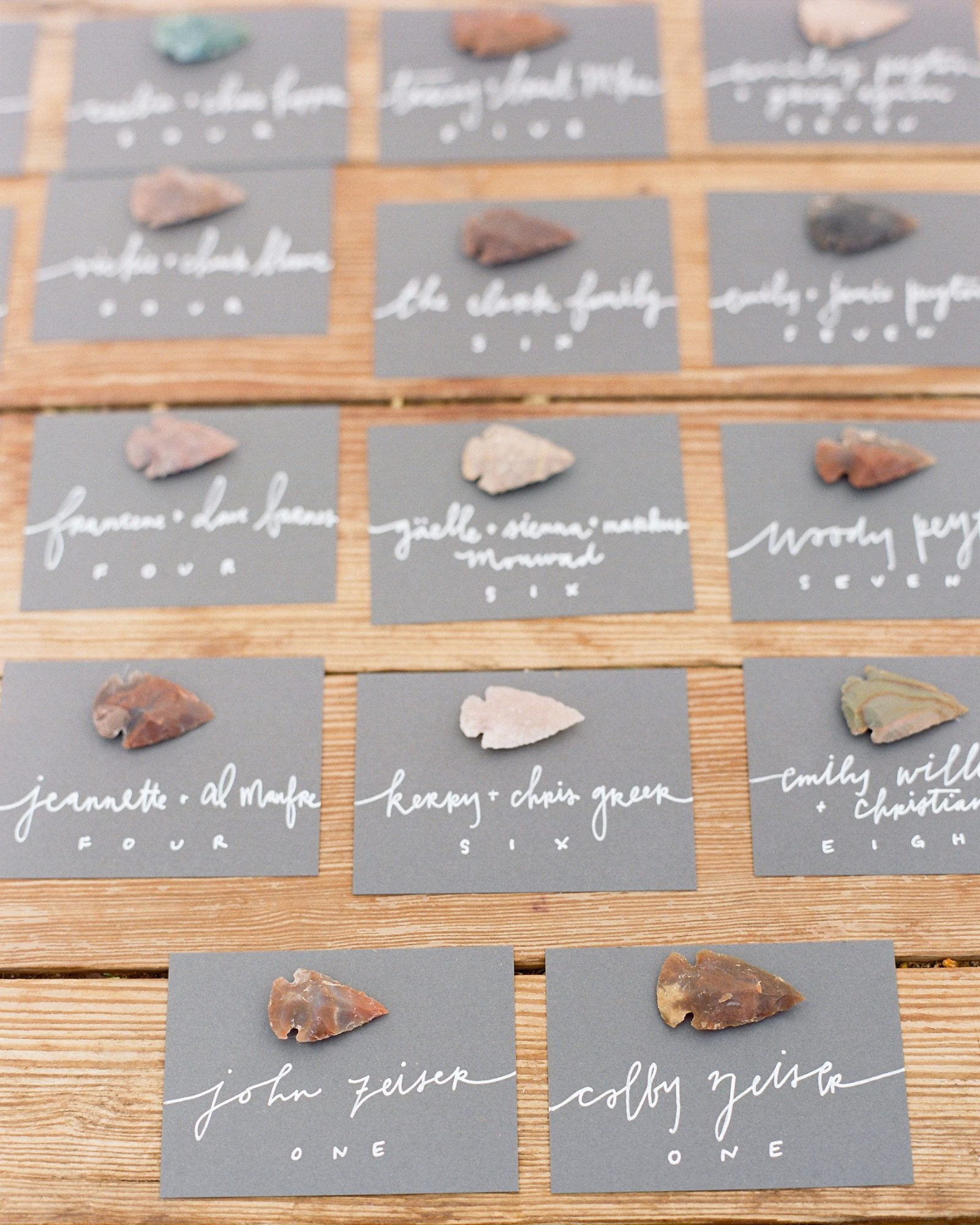 Western-Inspired Escort Cards