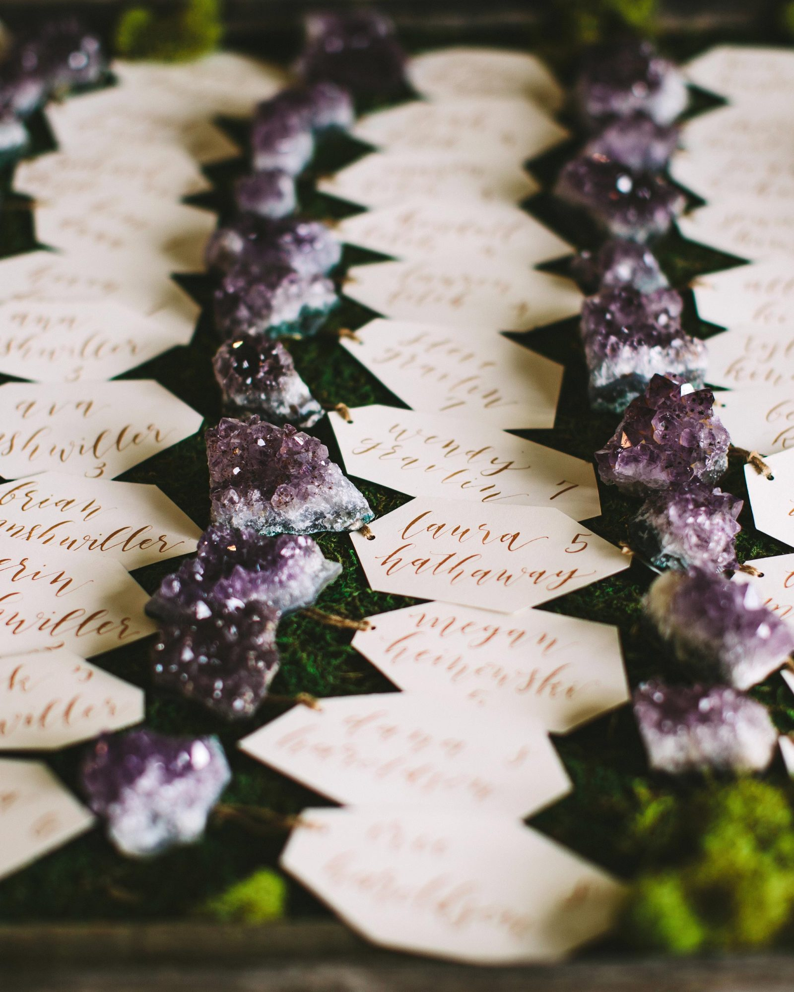 Geode Place Cards