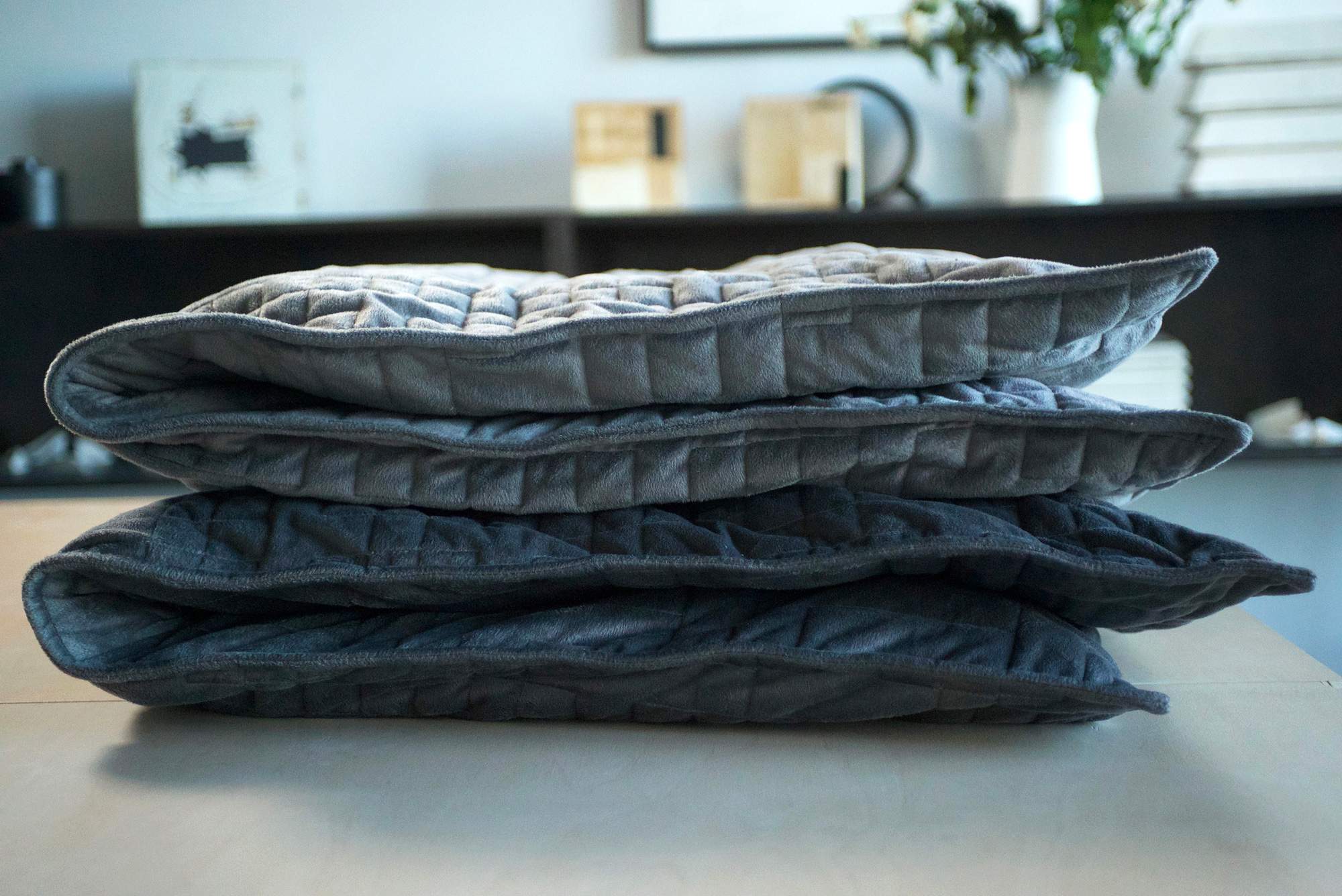weighted blanket folded