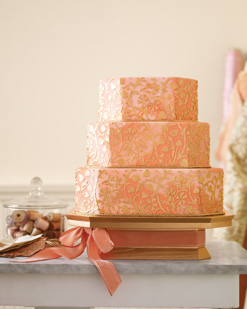Gilded Wedding Cake