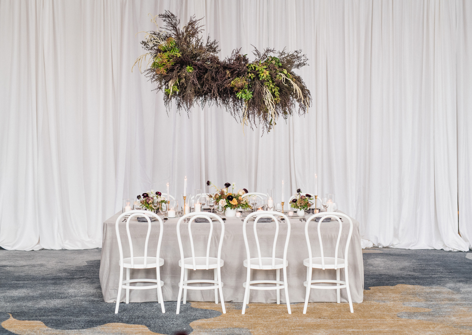 Punchy Gray reception decor