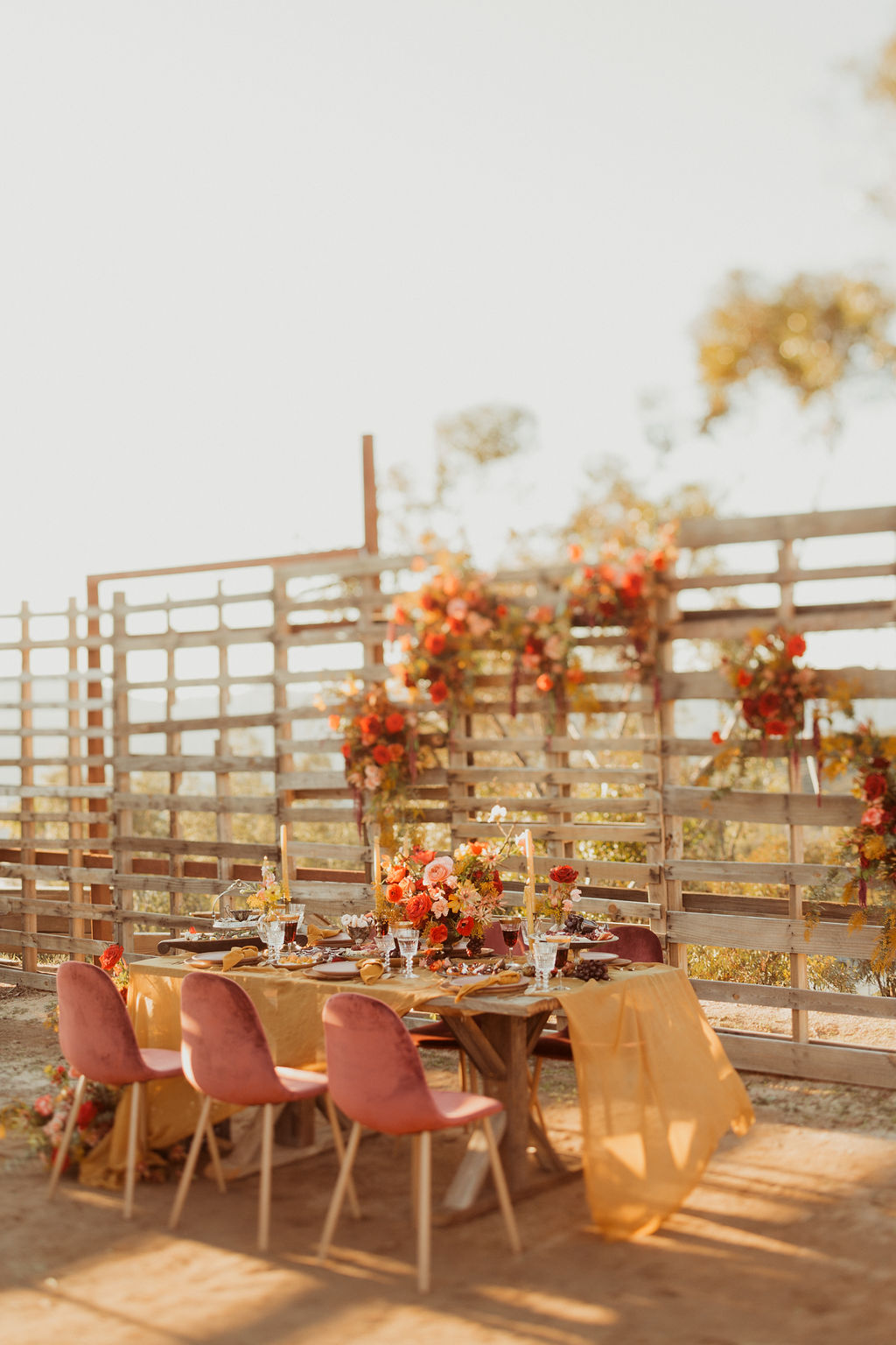 Golden Sienna reception decor