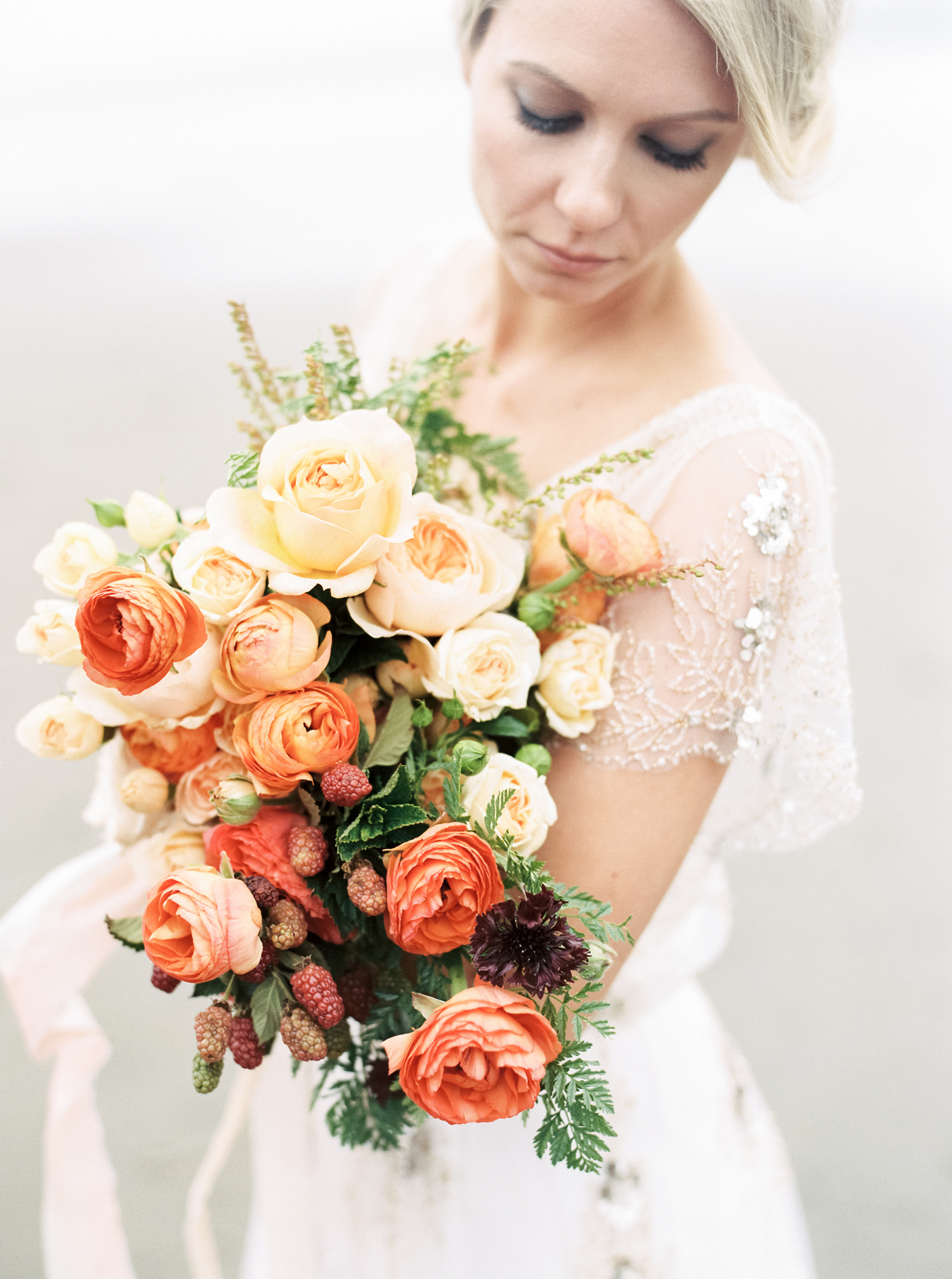 Orange Gradient bloom bouquet