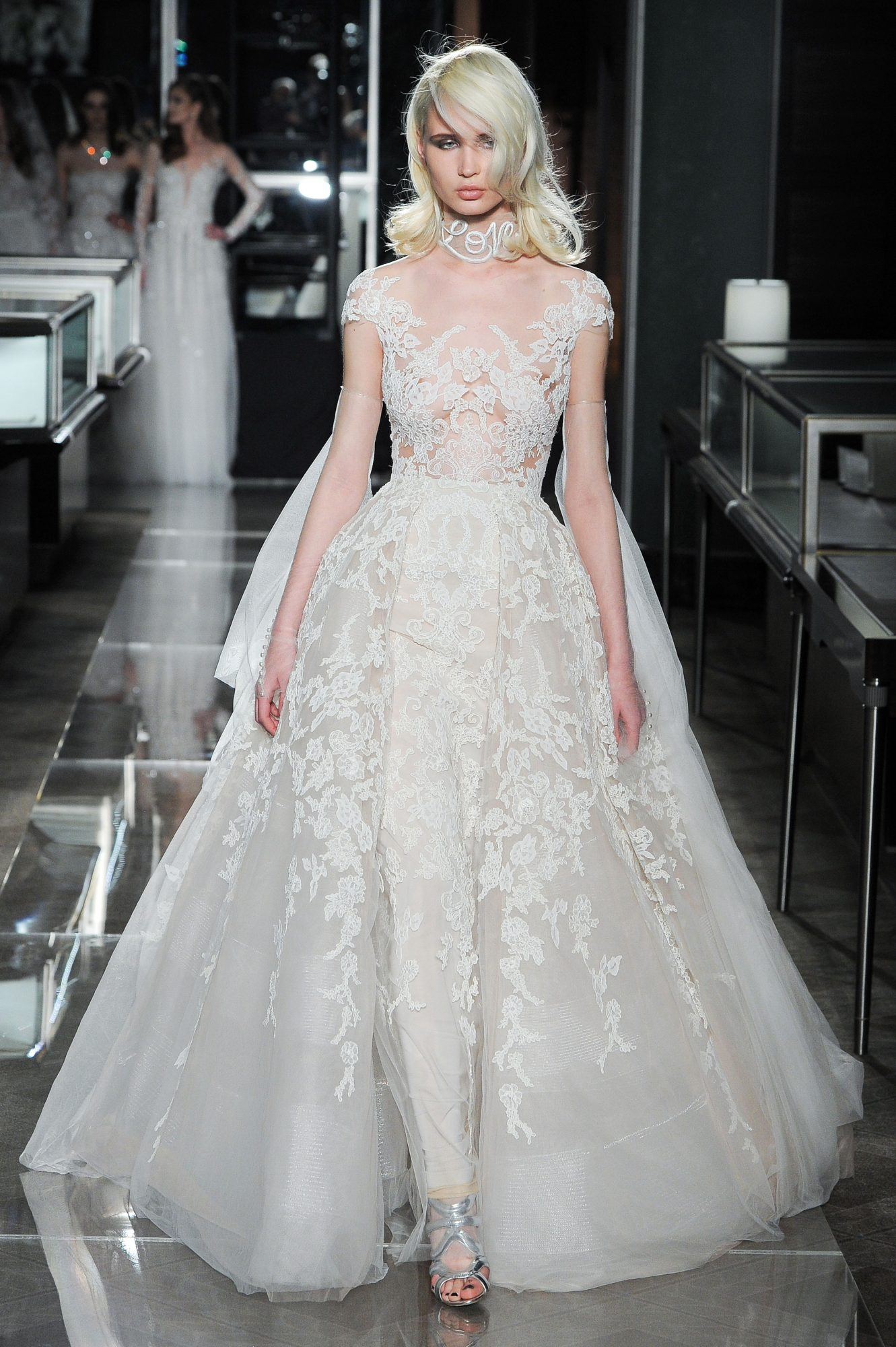 reem acra spring 2018 wedding dress collection lace a line