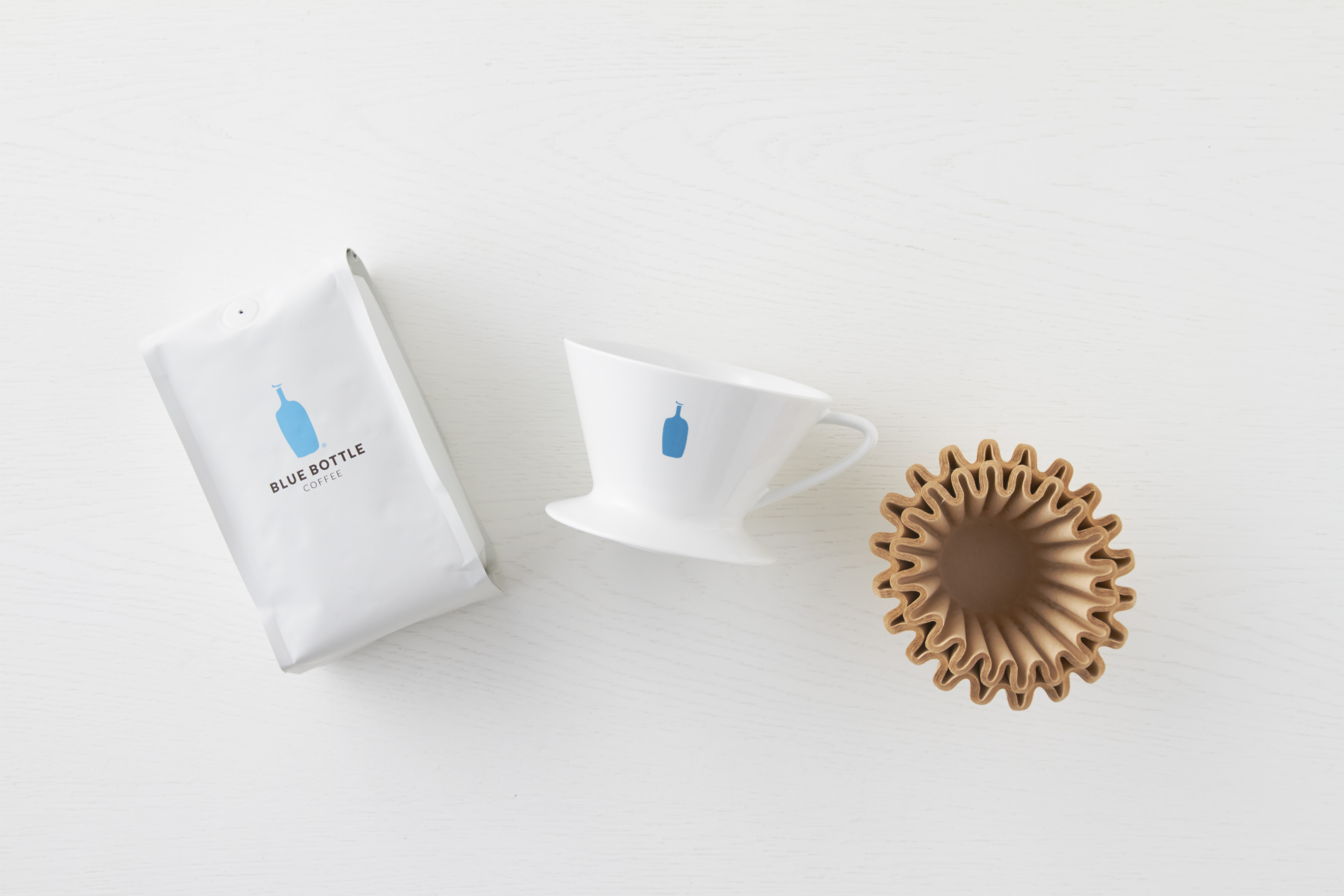 pour-over coffee set from Blue Bottle
