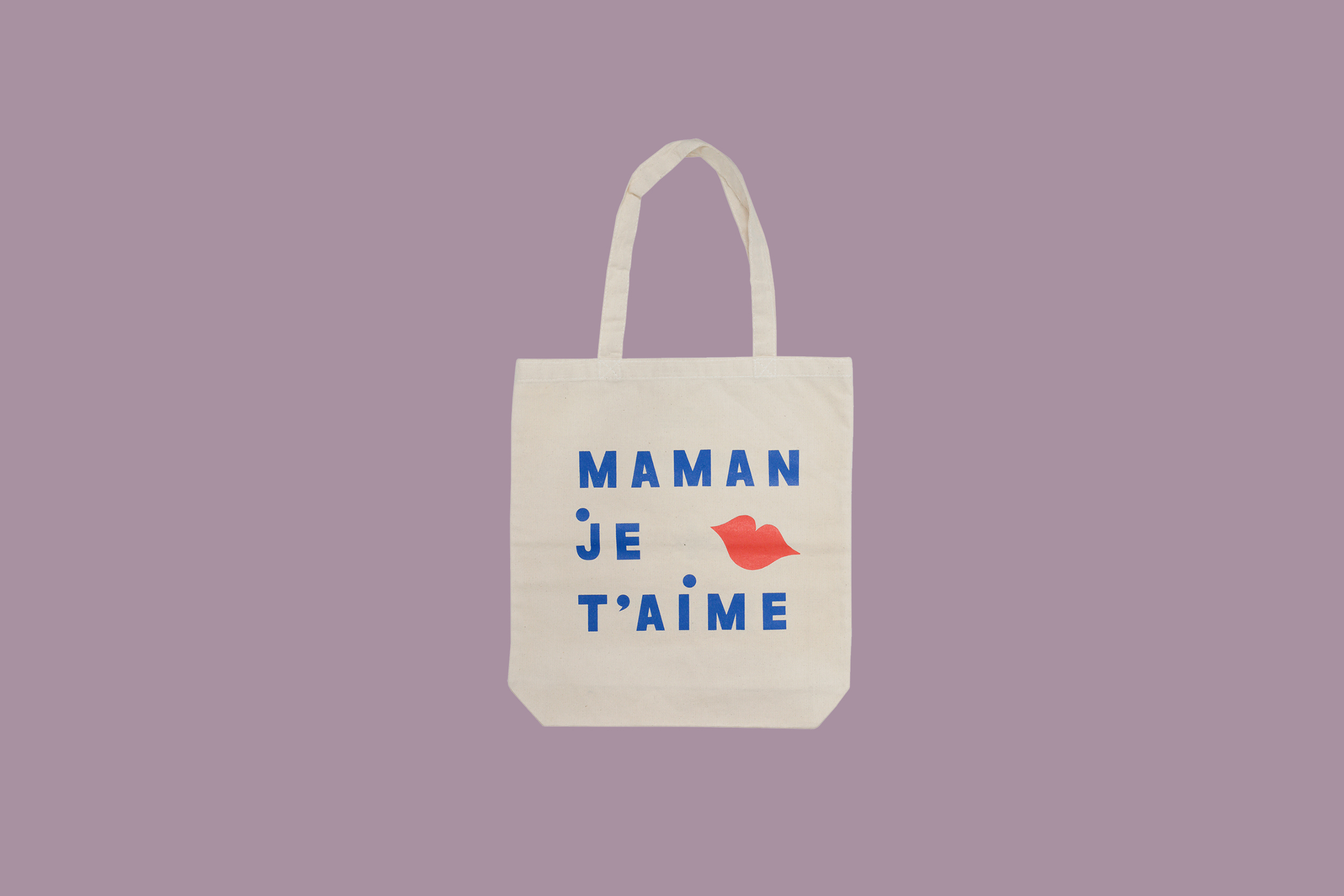 french tote bag with lips