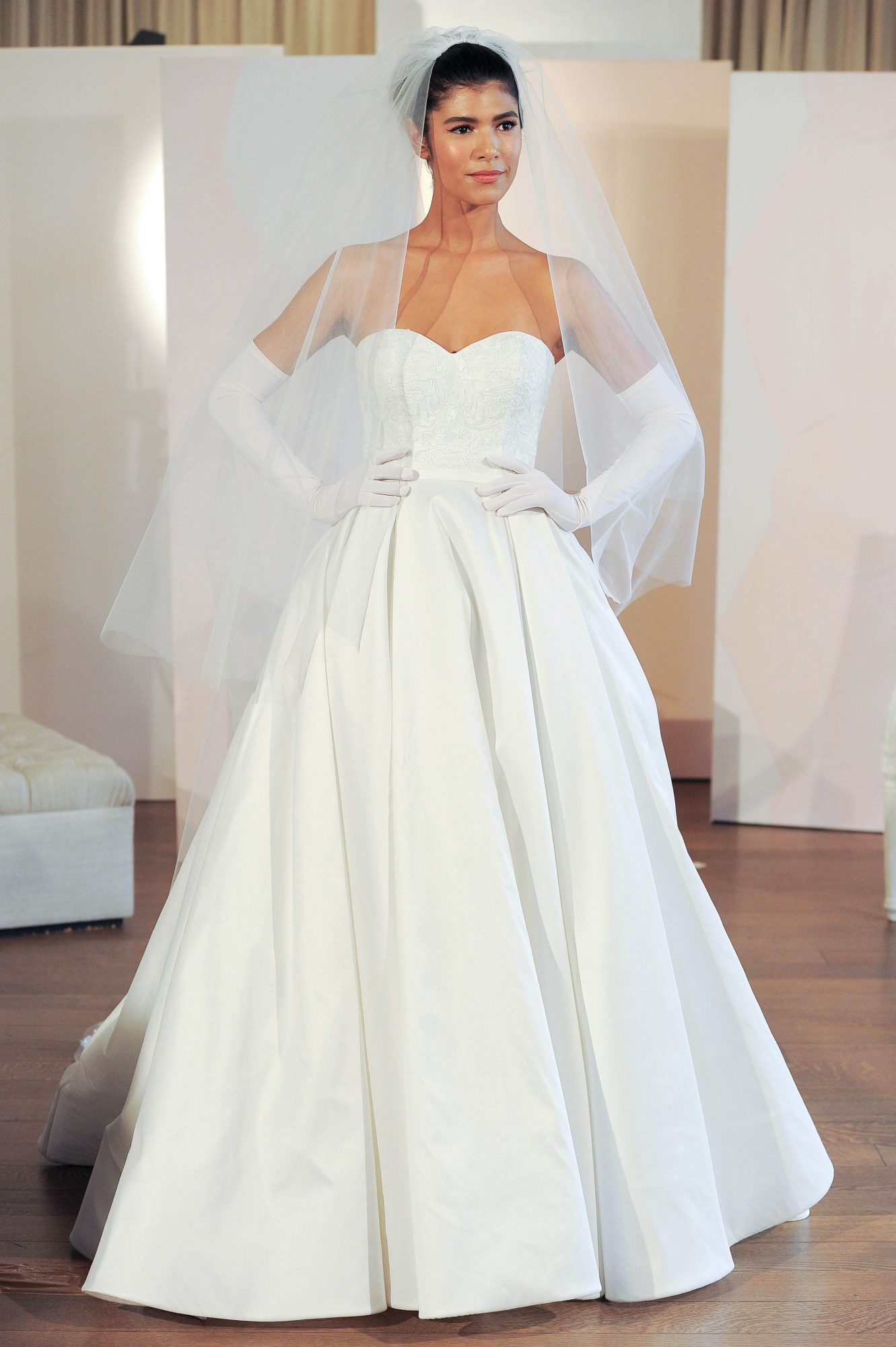anne barge strapless ball gown wedding dress spring 2018
