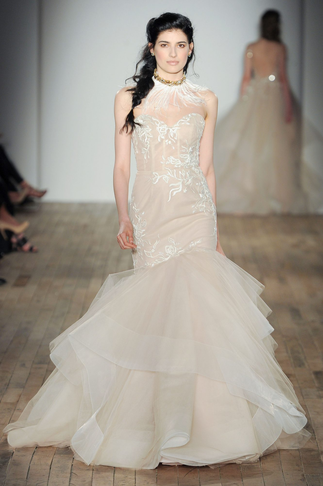 organza sweetheart mermaid Hayley Paige Spring 2018 Wedding Dress Collection
