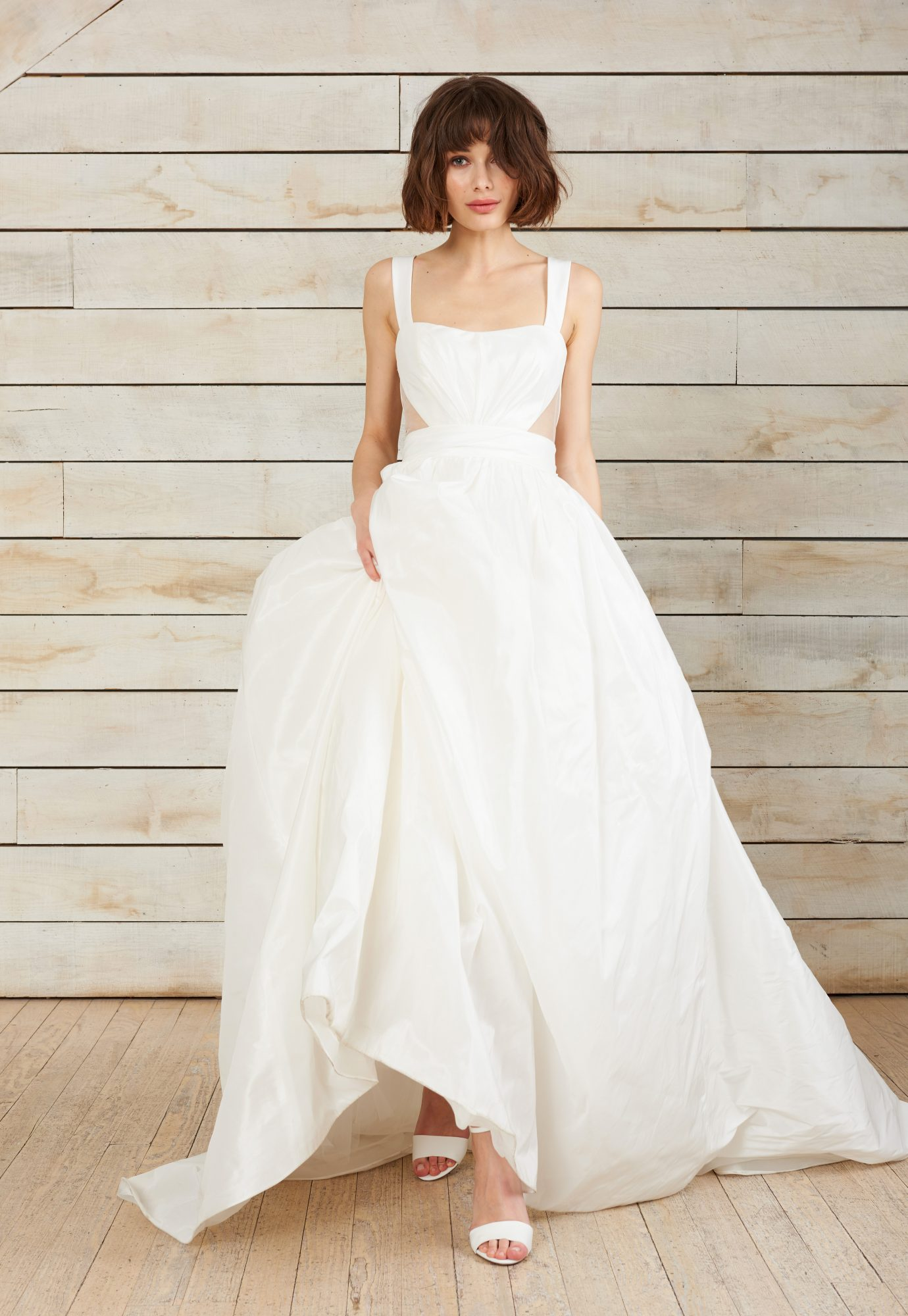 nouvelle amsale sleeveless ball gown wedding dress spring 2018