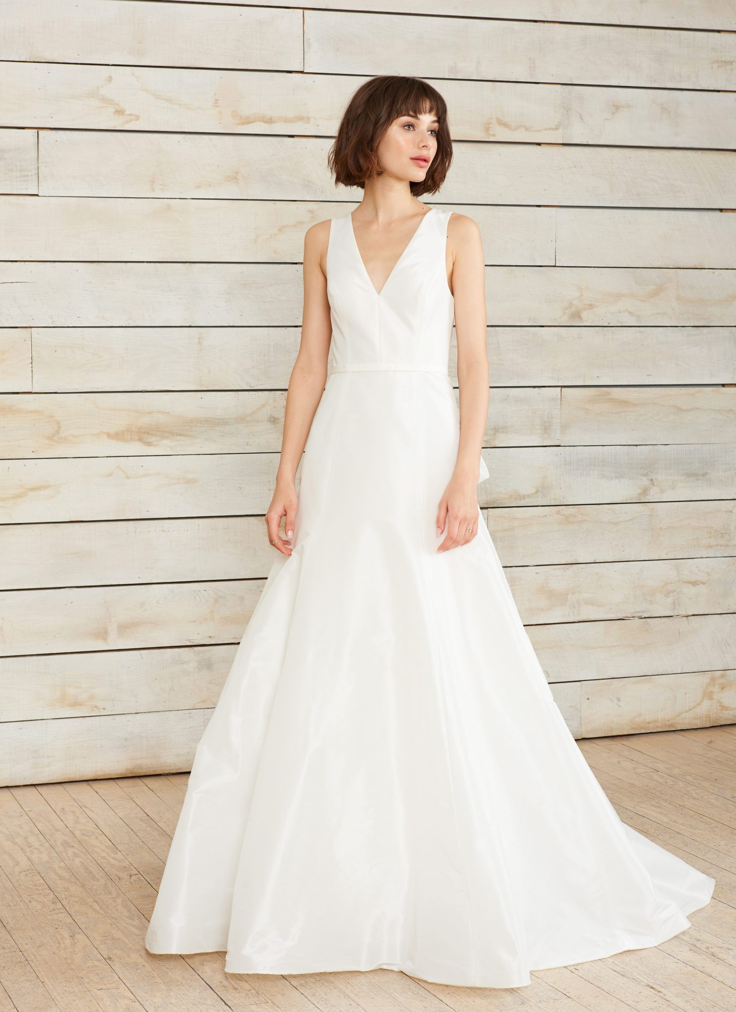 nouvelle amsale v-neck a-line wedding dress spring 2018