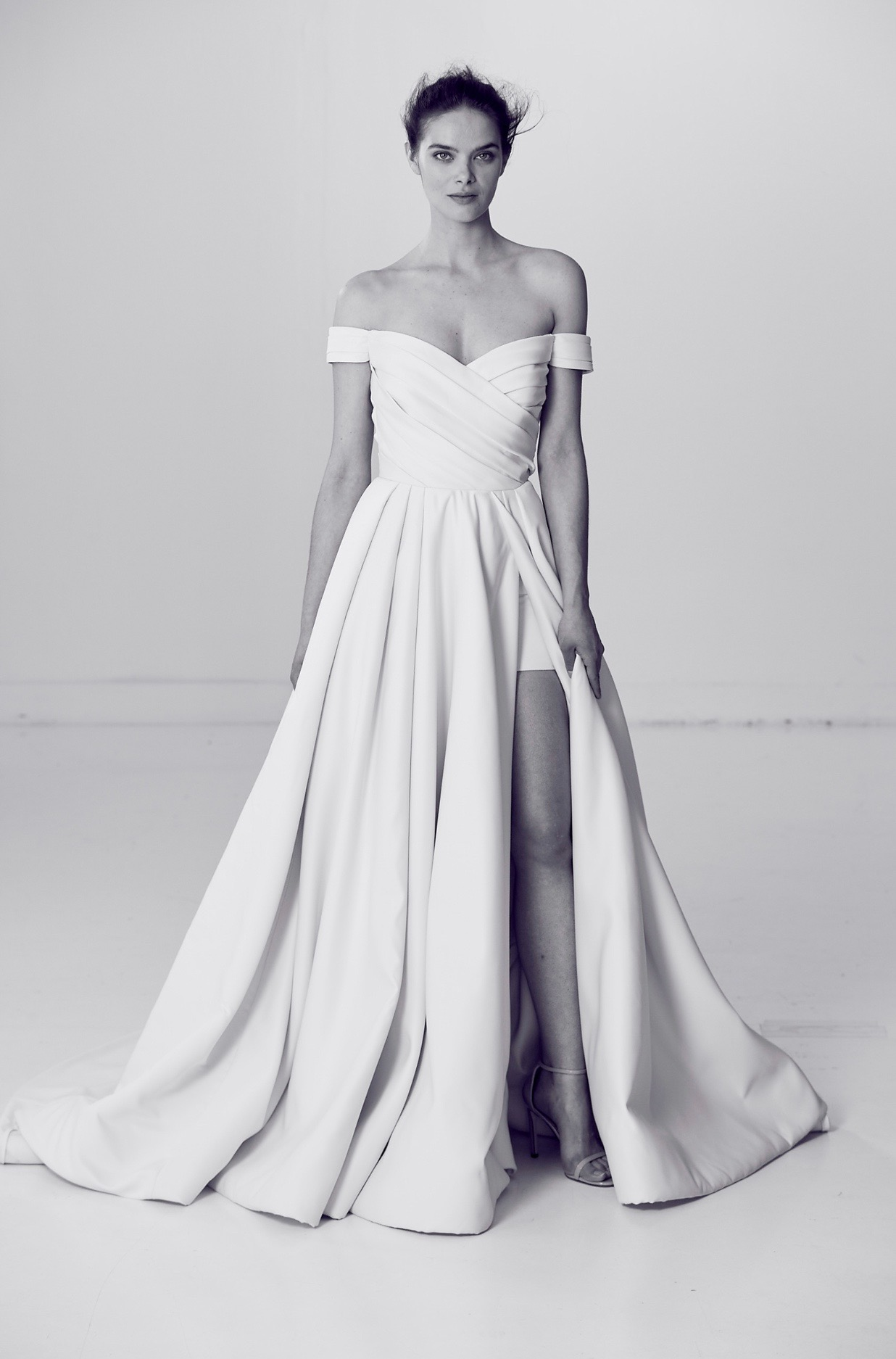 Alyne by Rita Vineries Off-the-Shoulder Wedding Dress with Sweetheart Neckline Spring 2018
