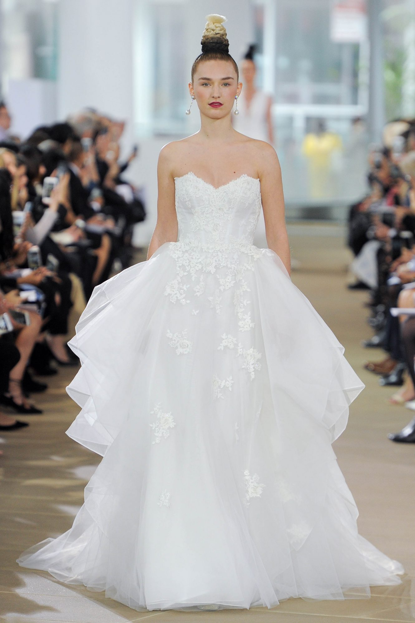 Ines Di Santo Ball Gown Wedding Dress with Sweetheart Neckline Spring 2018