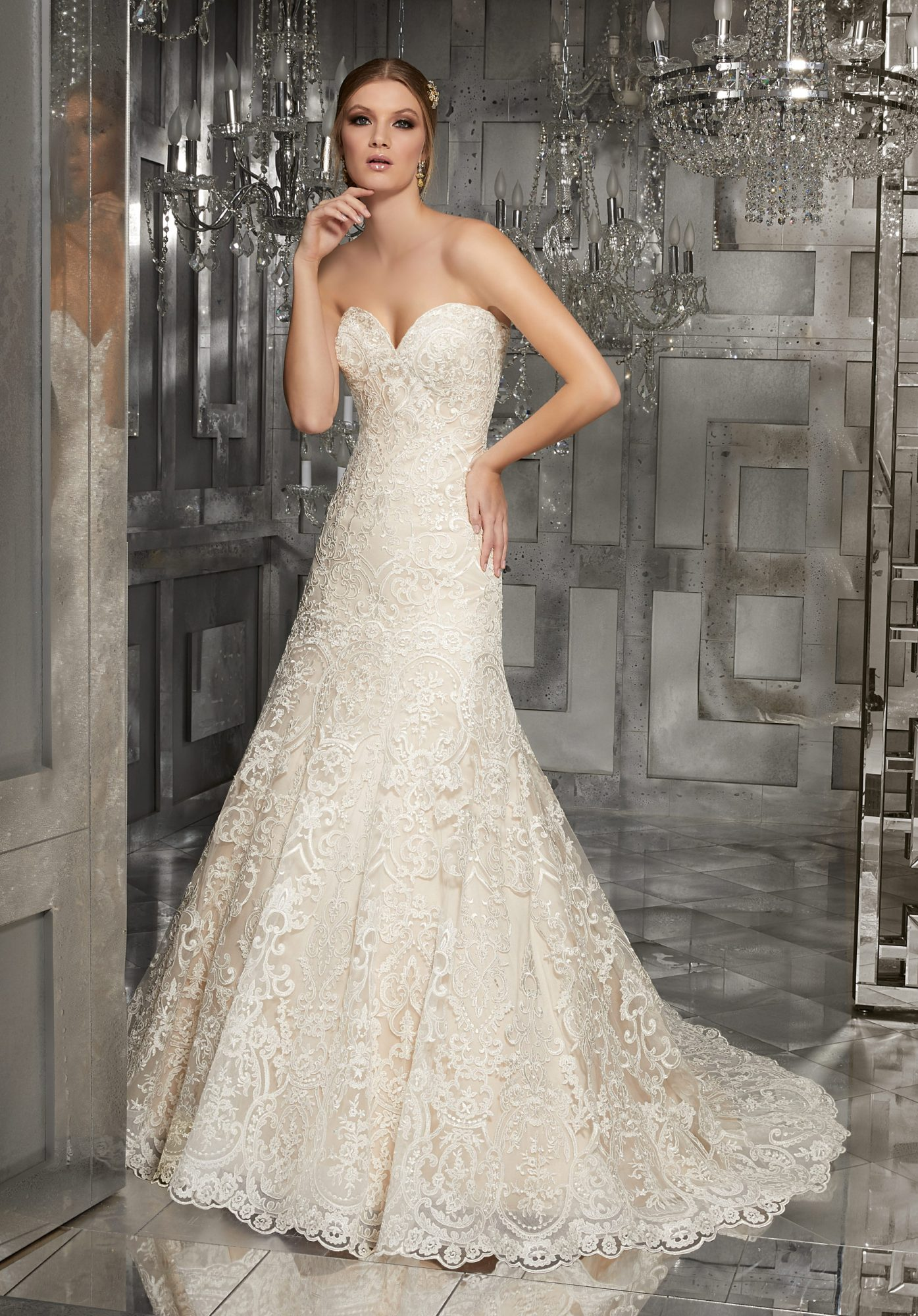 morilee wedding dress spring 2018 sweetheart embroidered a-line
