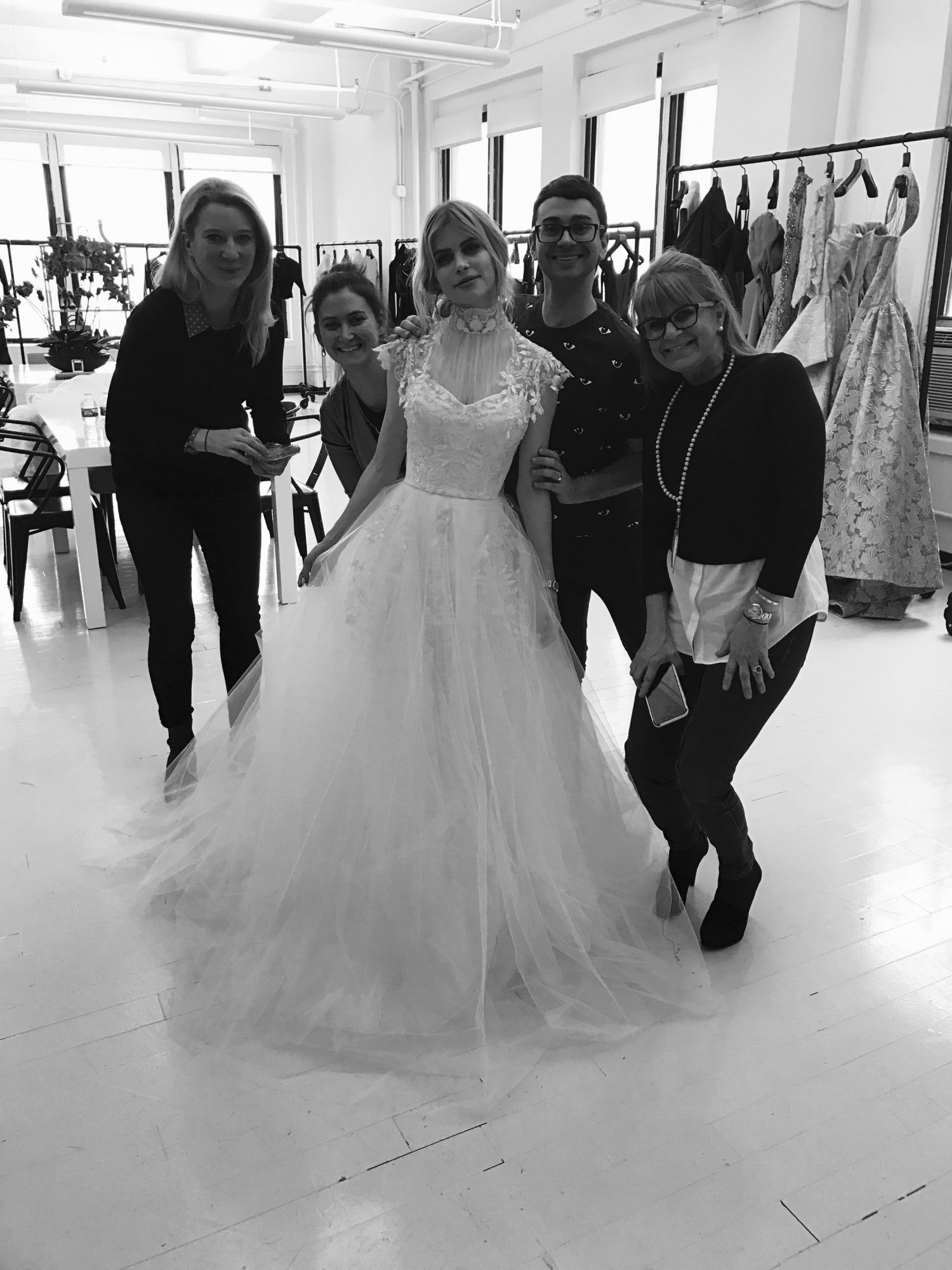 Carlson Young Wedding Dress Fitting with Christian Siriano