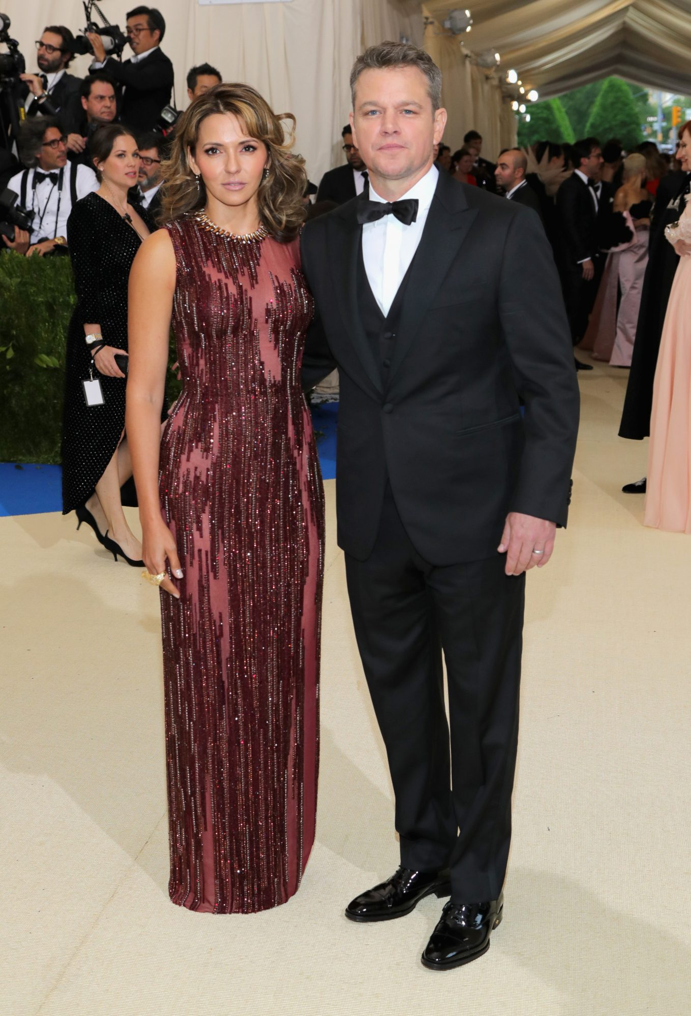 Matt Damon and Luciana Barroso Met Gala 2017