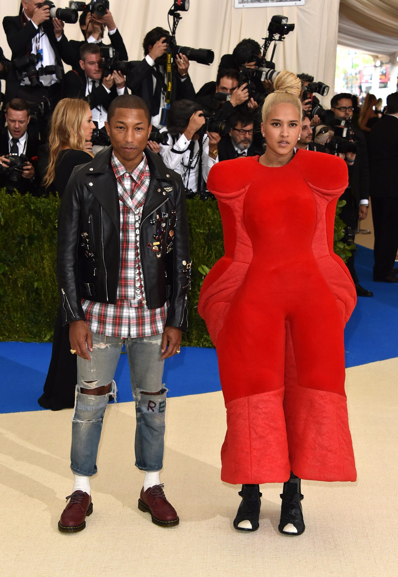 Pharrell Williams and Helen Lasichanh Met Gala 2017
