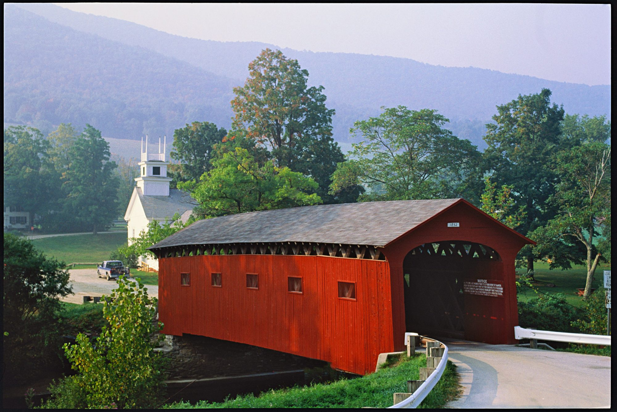 covered bridge vermont church