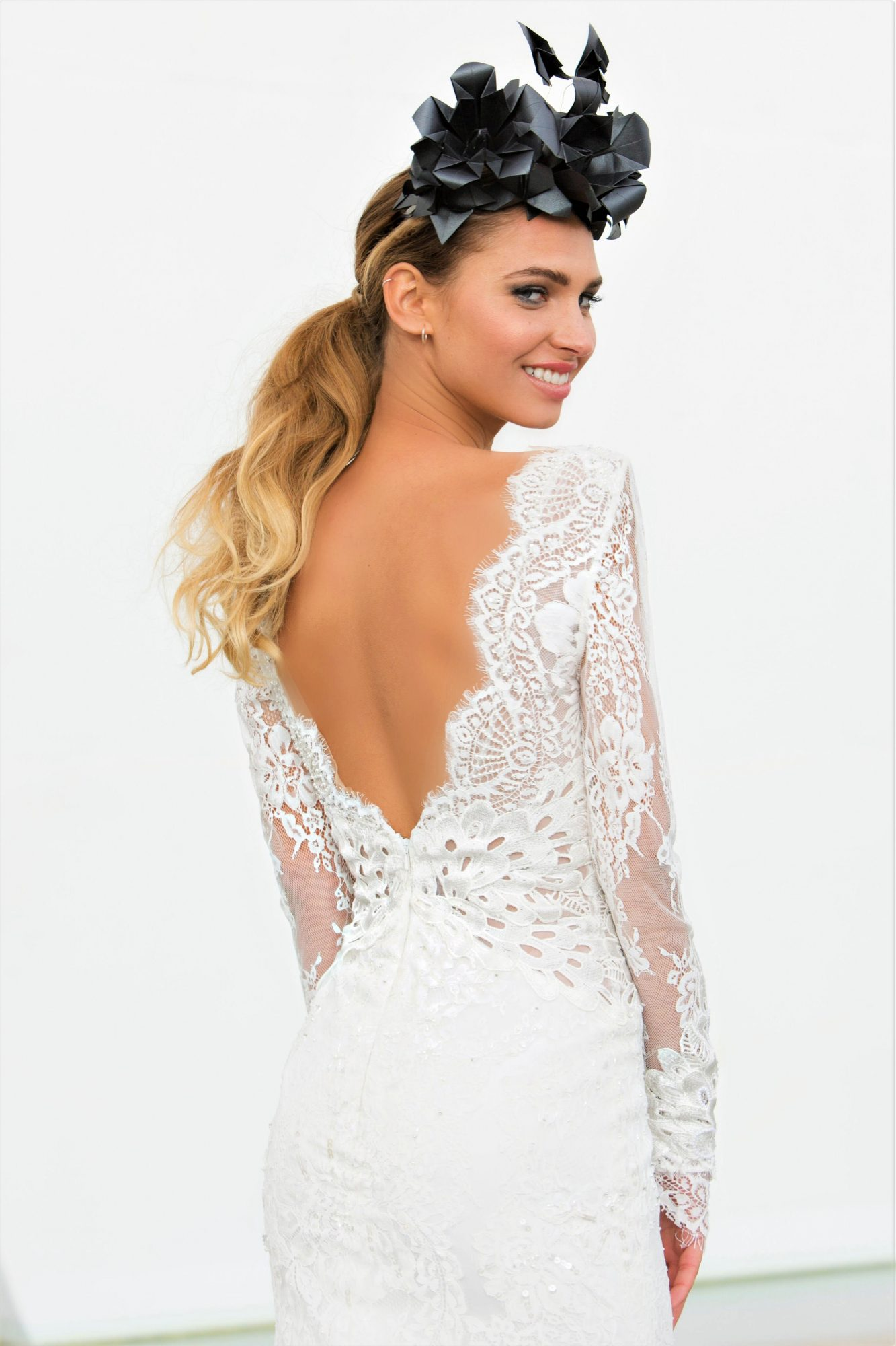 lace long sleeves persy wedding dress spring2018