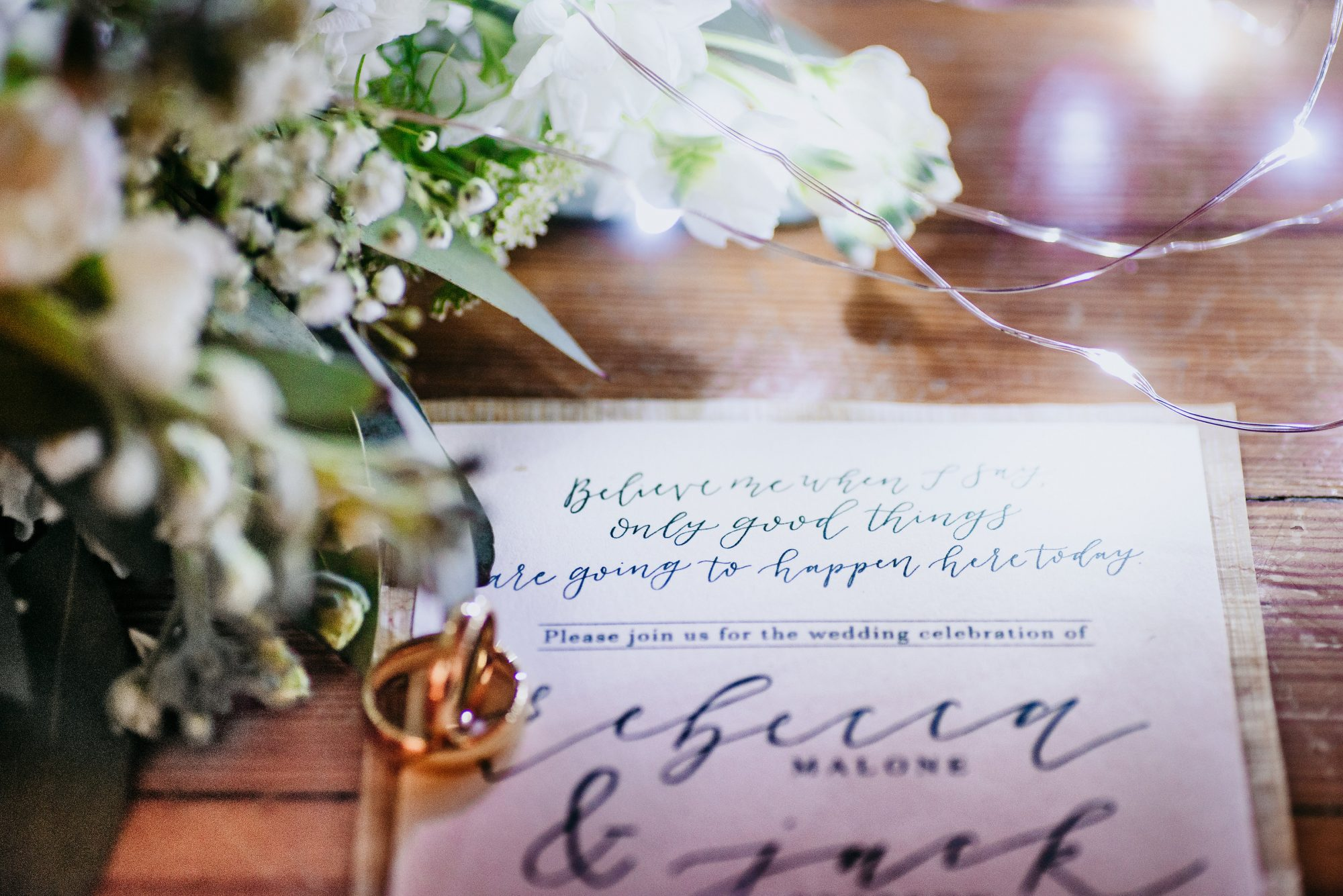 """Invitation from """"This Is Us"""" Wedding Inspiration Shoot"""