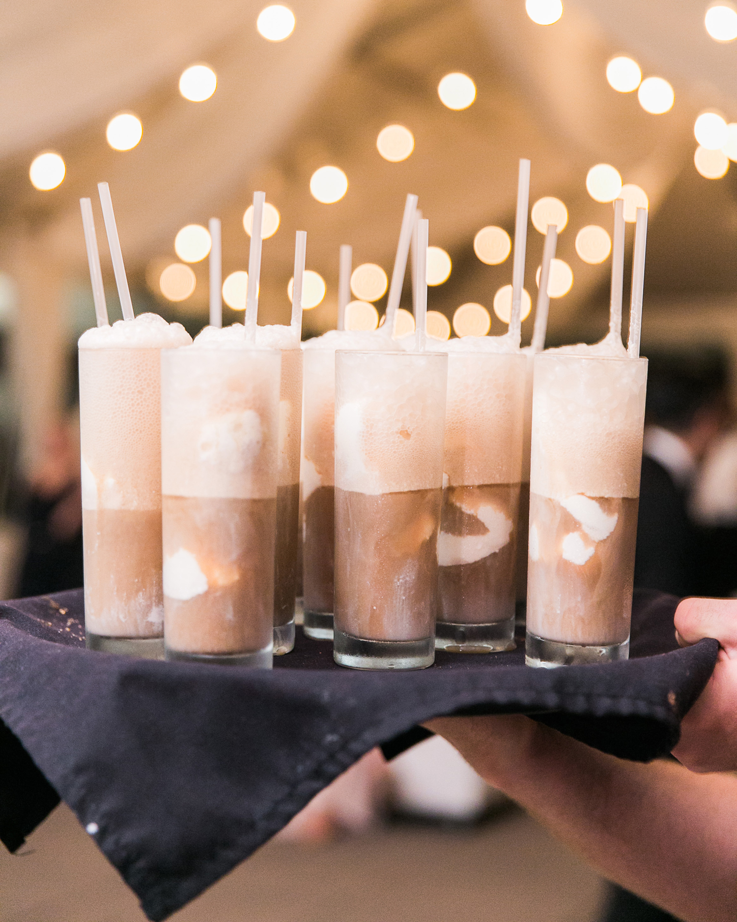 root beer floats served on a tray