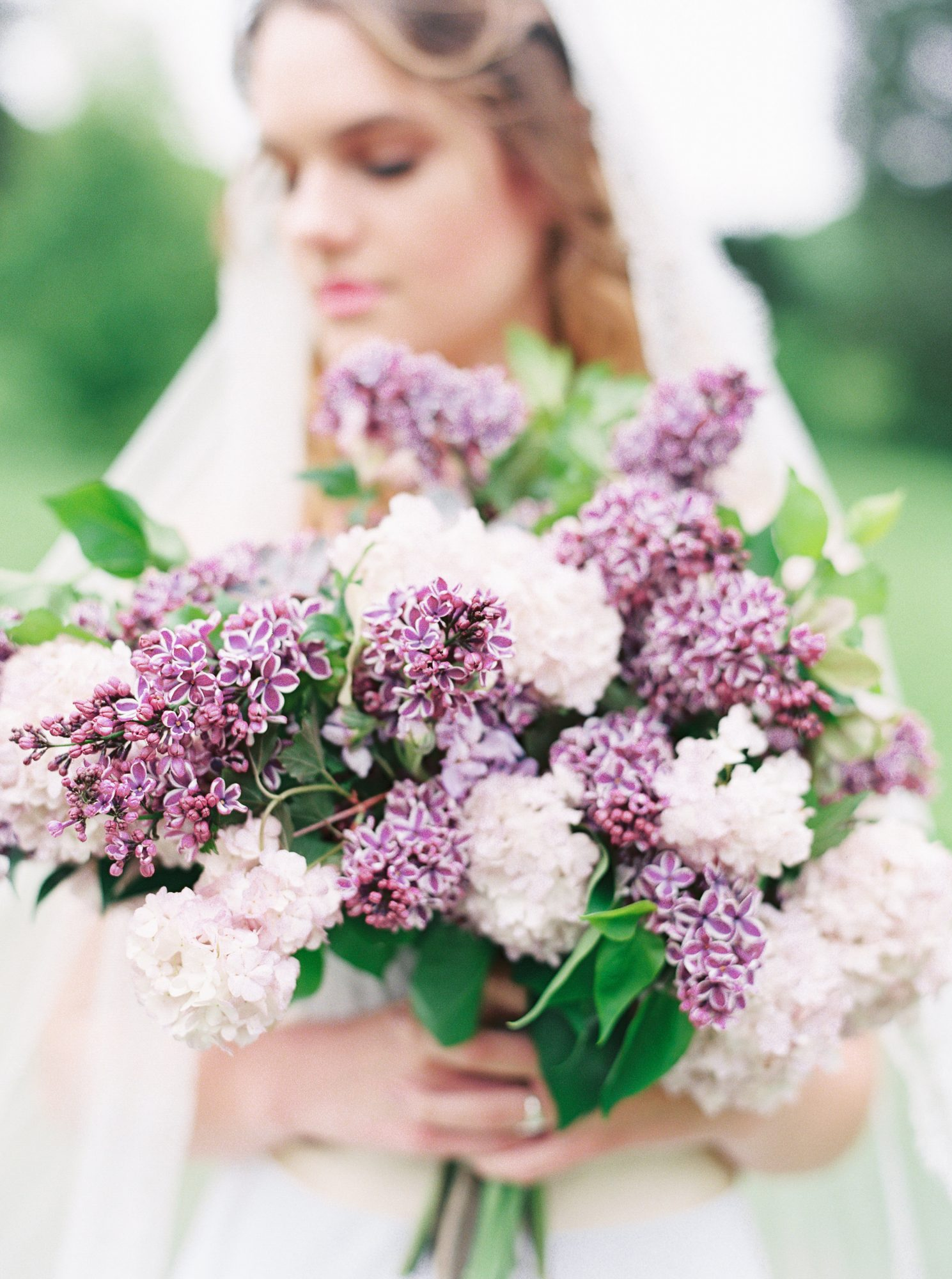 White and Purple Lilac Bouquet