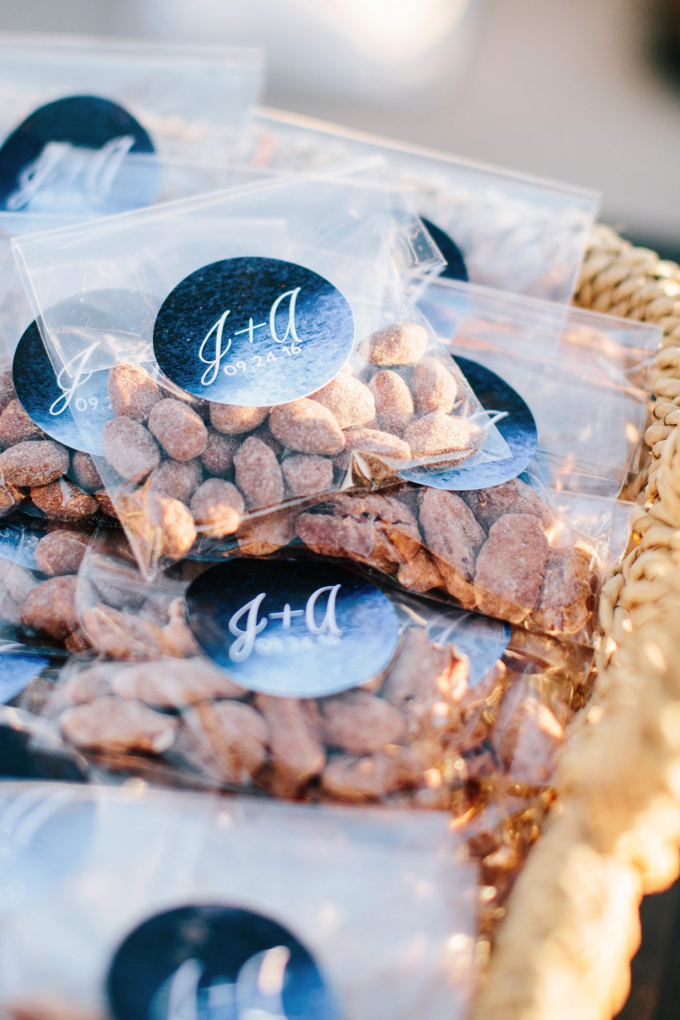 julie anthony real wedding almonds