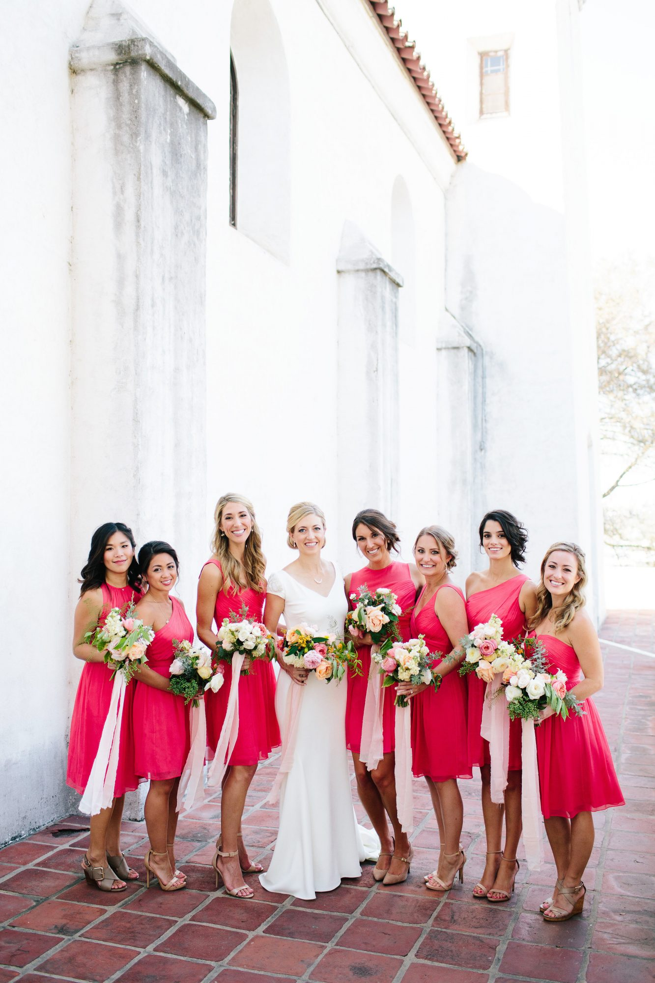 julie anthony real wedding bridesmaids