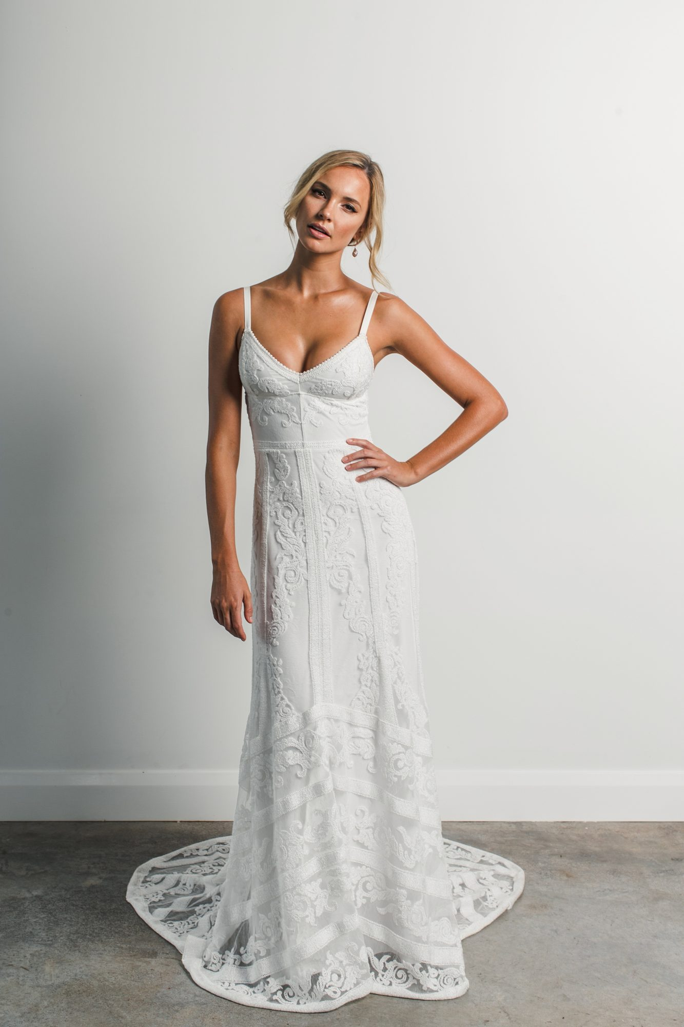grace loves lace strap lace spring 2018 wedding dress