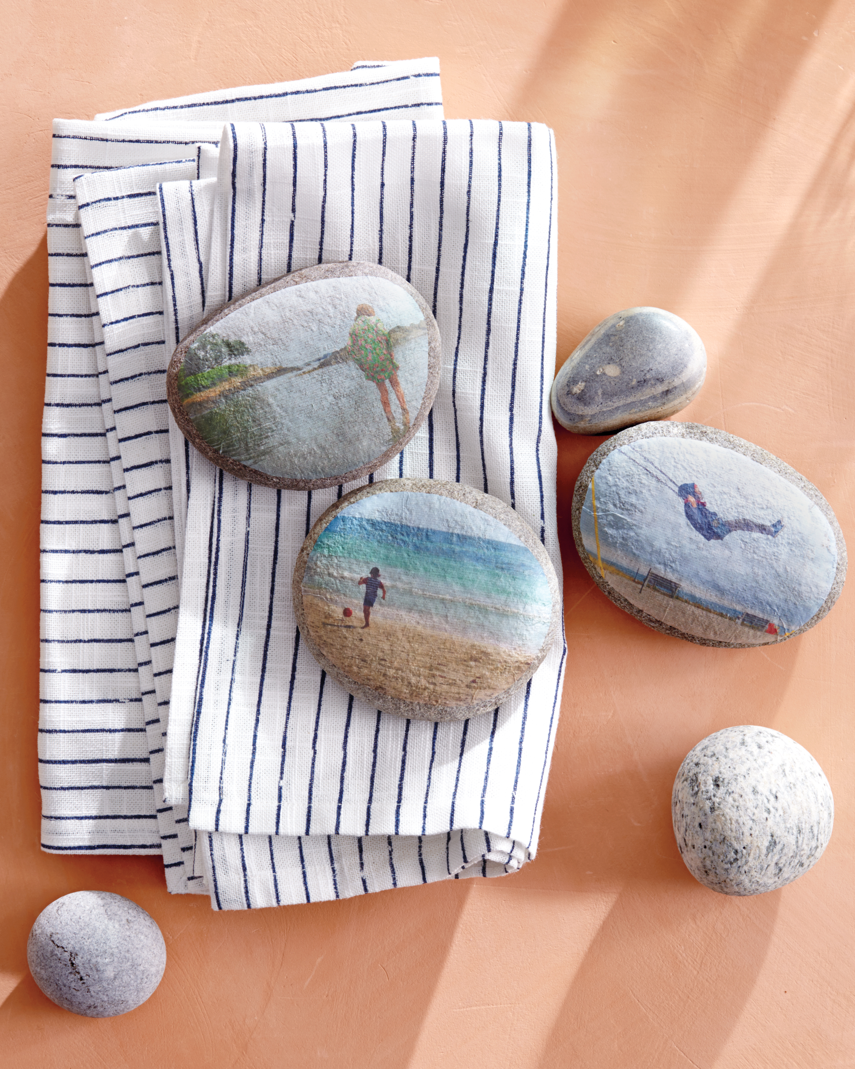 Decoupaged Paper Weights
