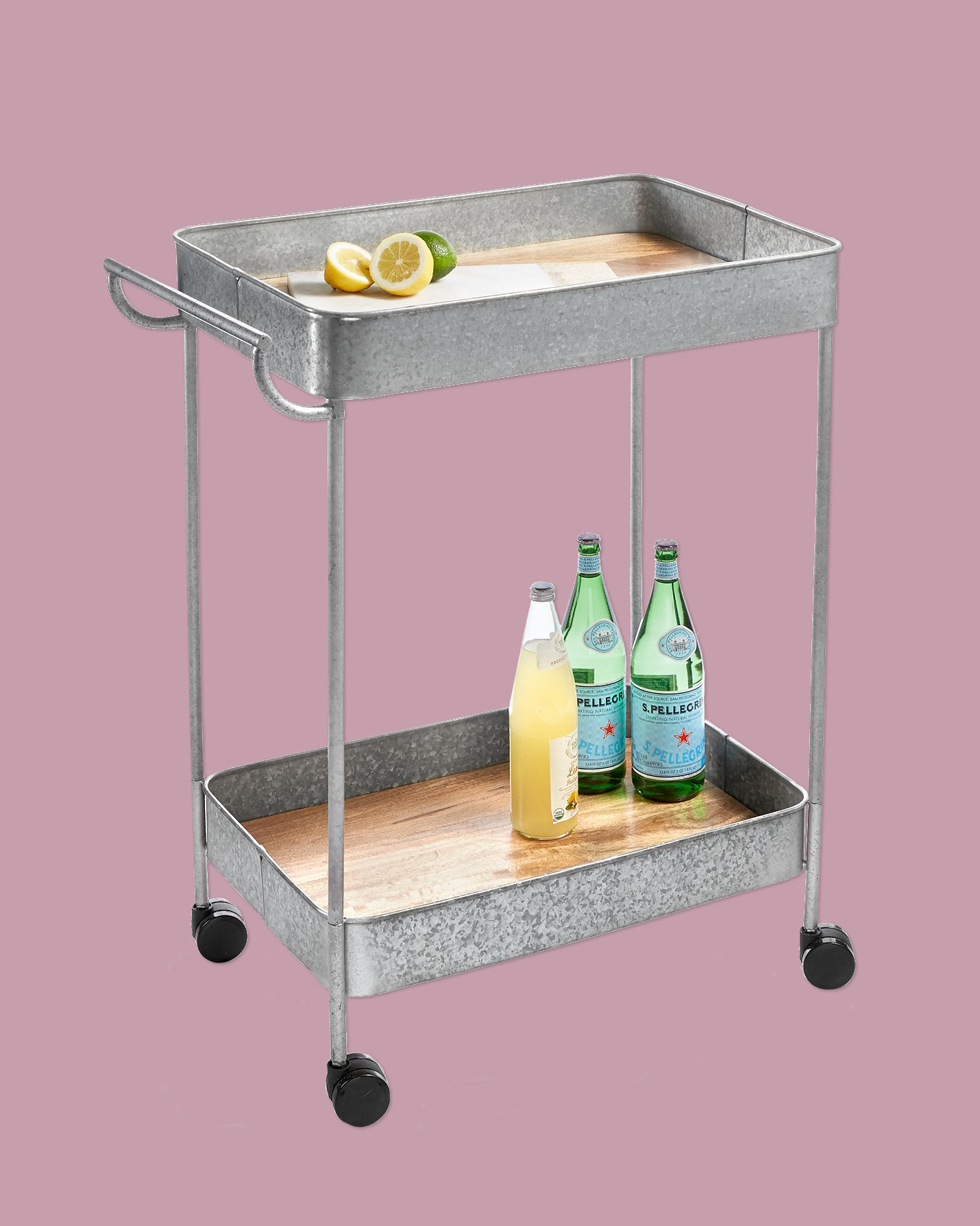 Galvanized Bar Cart