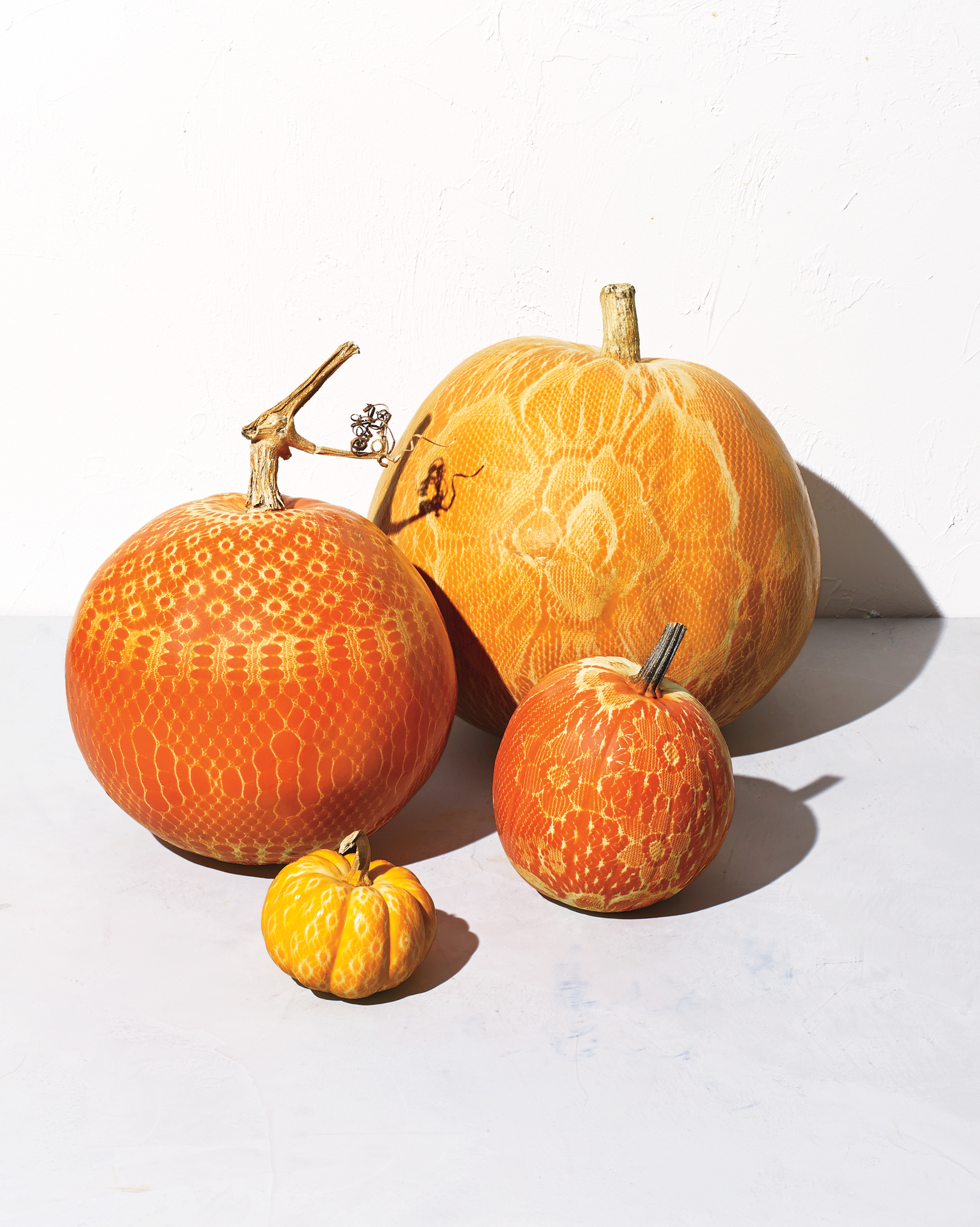 No-Carve Lacy Pumpkins