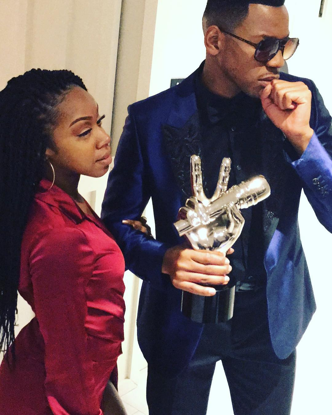 Chris Blue and Stephanie Dunkley After Voice Win