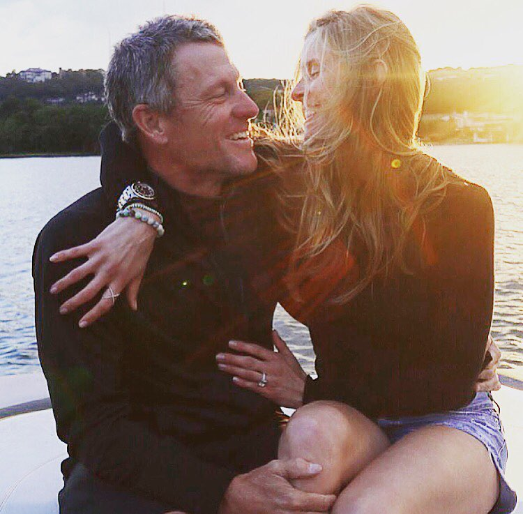 Lance Armstrong and Anna Hansen Engaged Photo