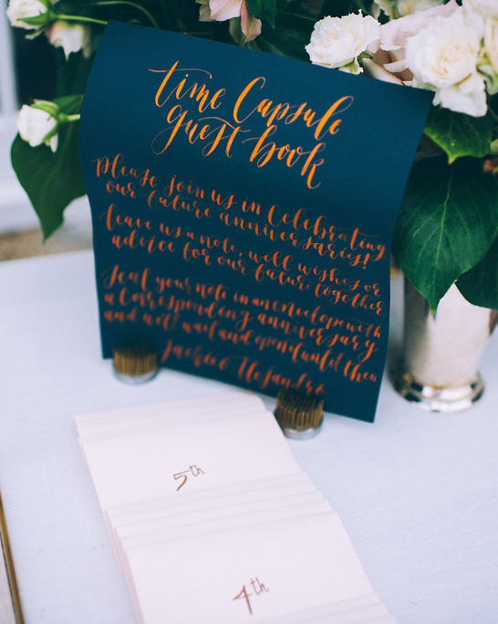 time capsule guest book