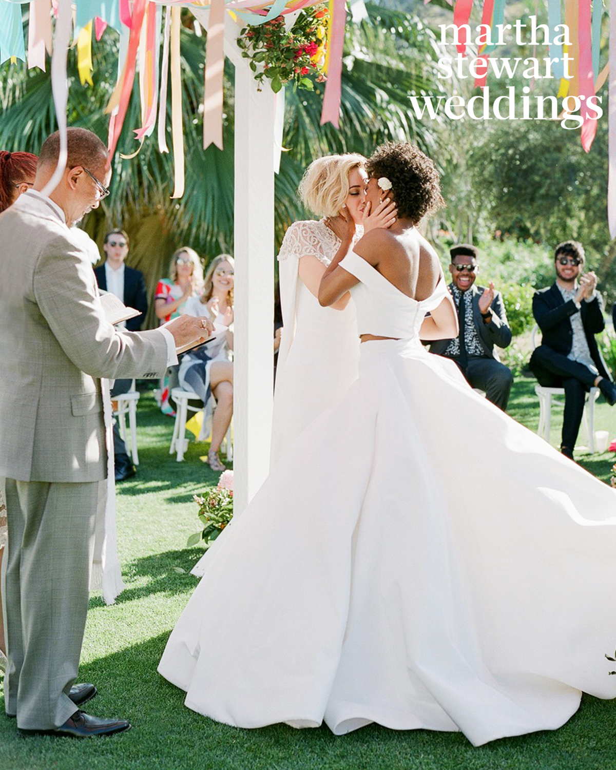 samira wiley lauren morelli wedding kiss