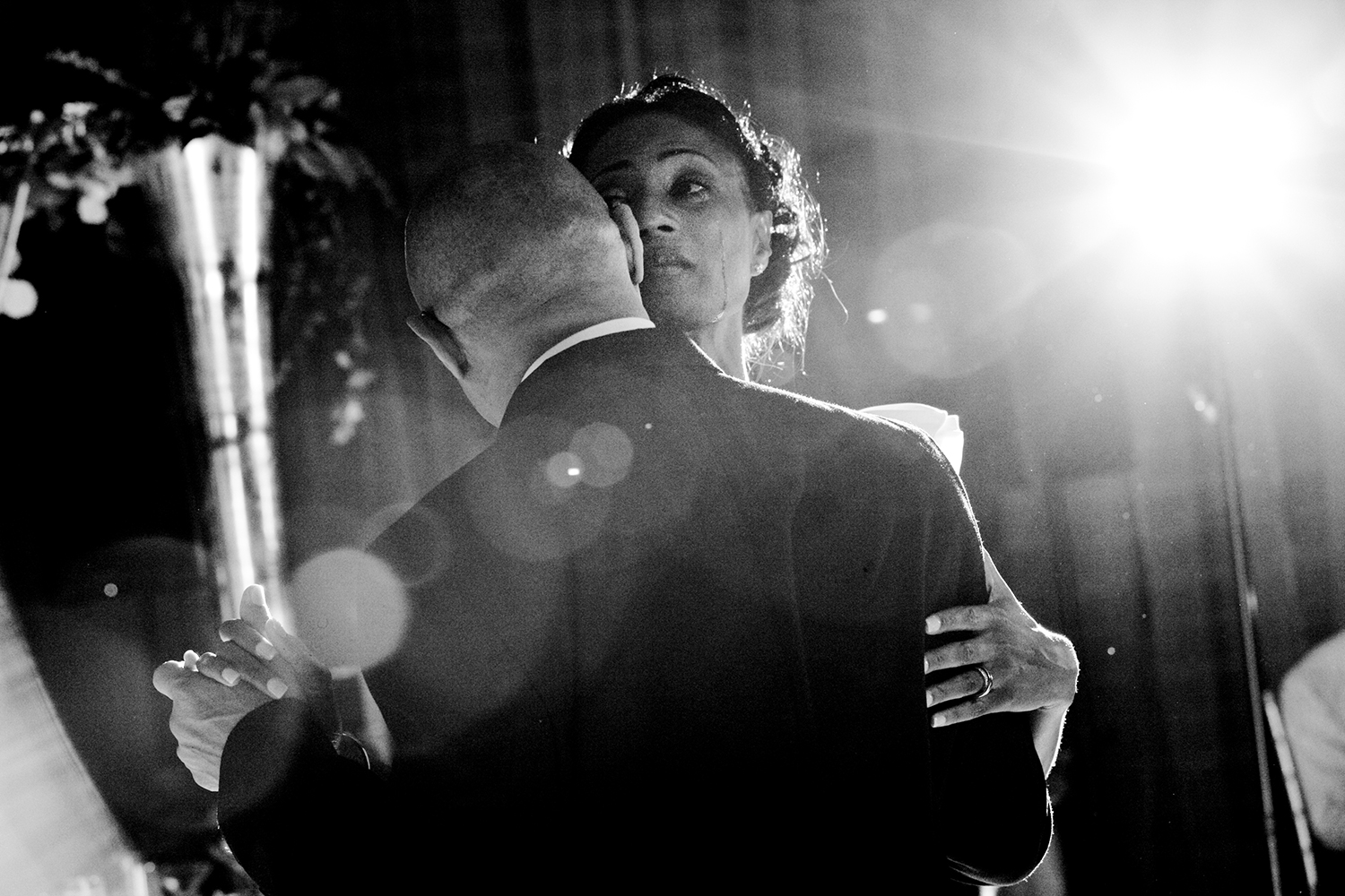 bride and father tearful dance