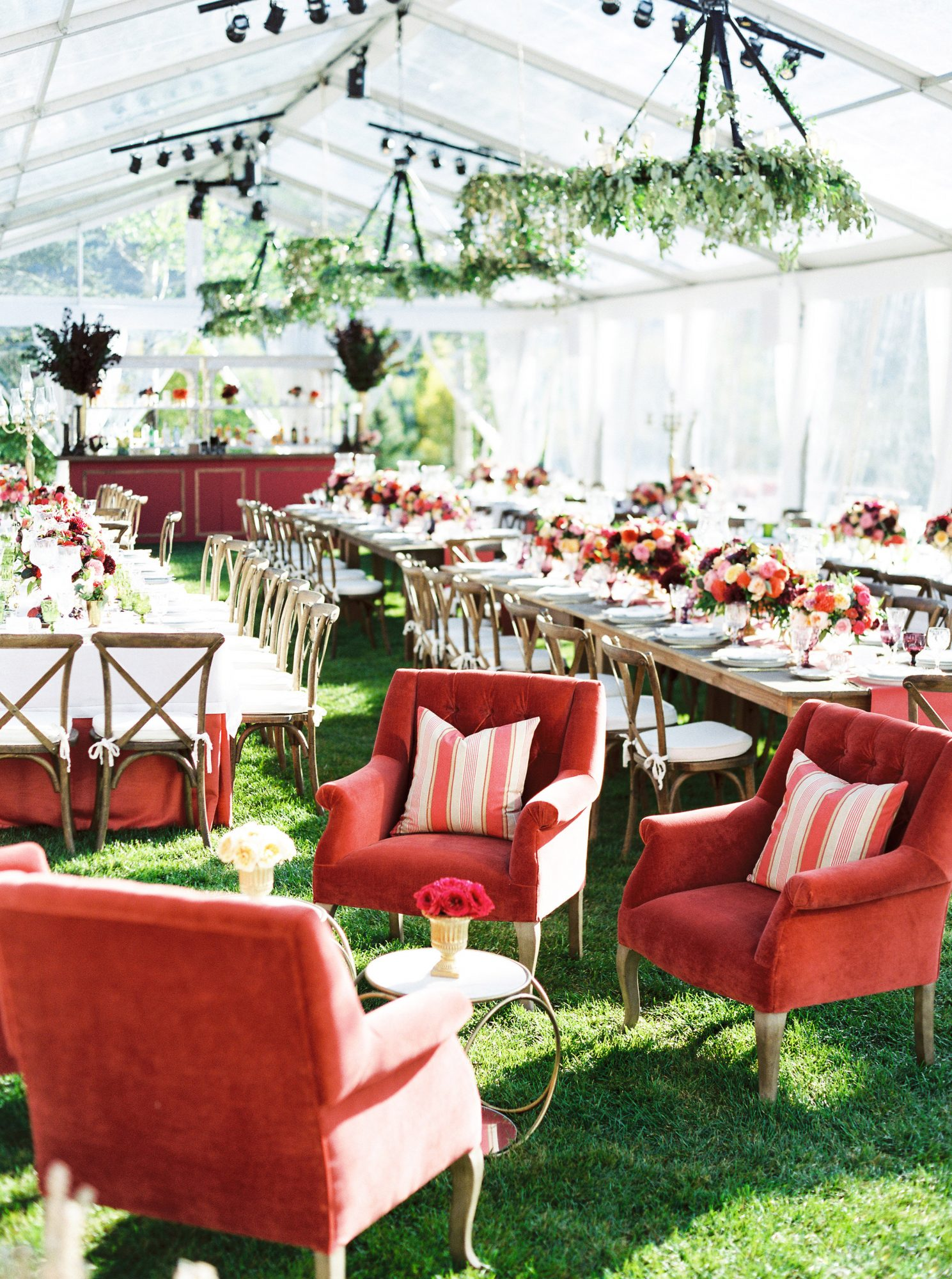 tent wedding lounge
