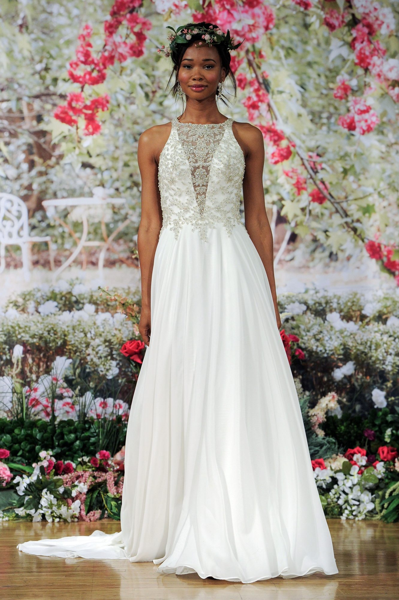 Maggie Sottero Fall 2017 Wedding Dress with Deep V and Illusion Neckline