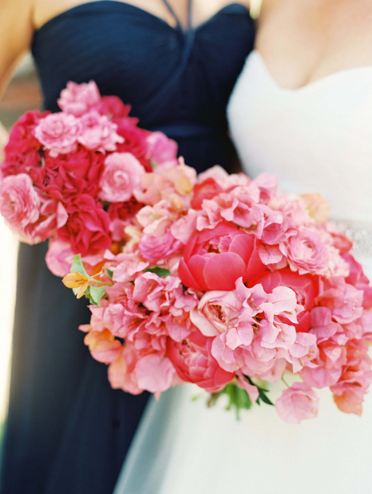 bright pink bouquets