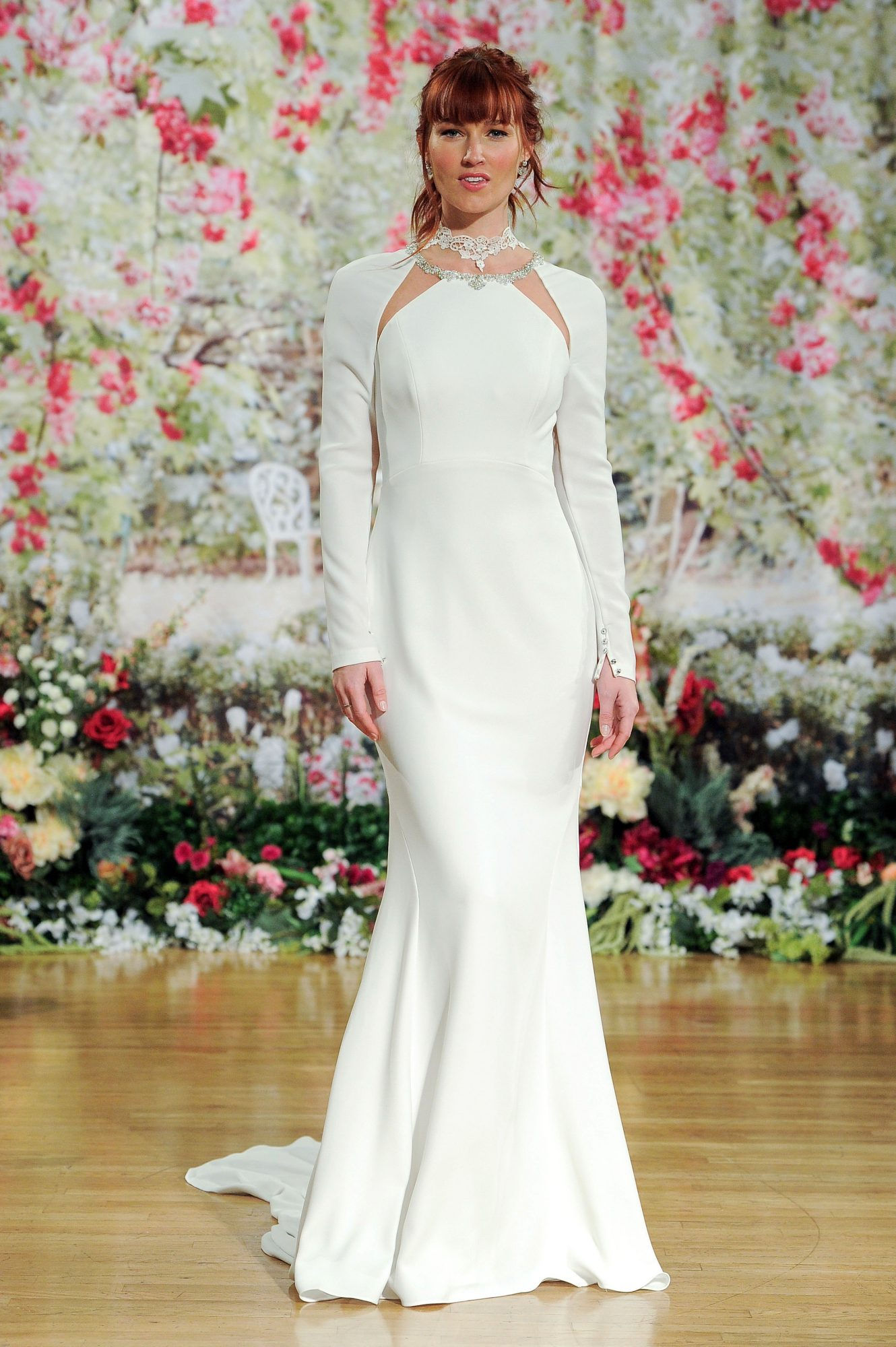 Sottero and Midgley Fall 2017 Long-Sleeved Dress with Cut-Outs