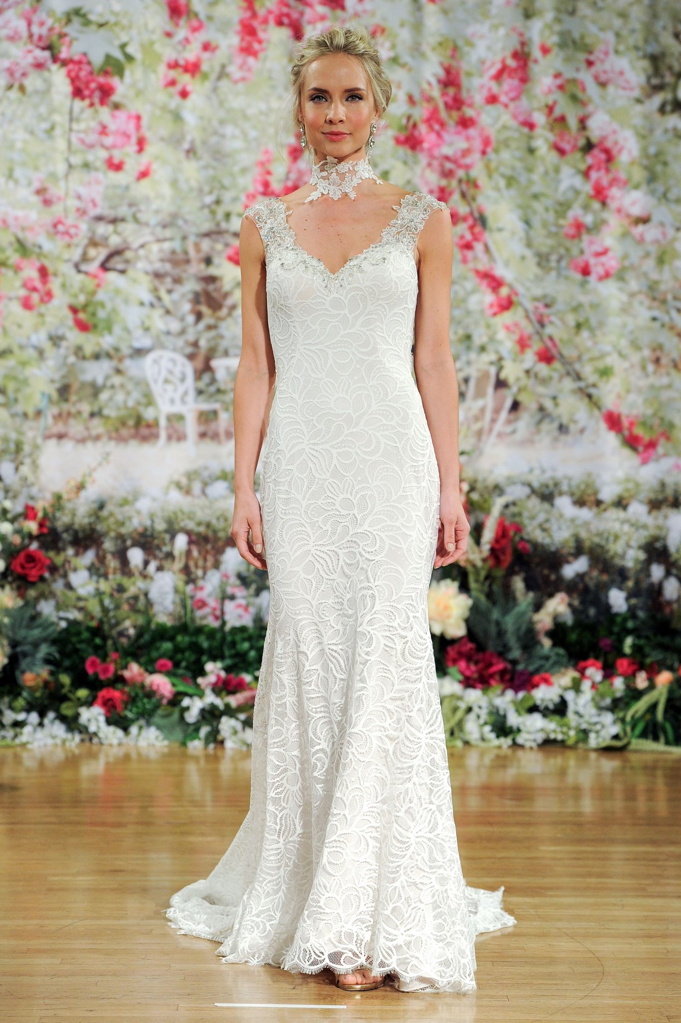 Sottero and Midgley Sleeveless Wedding Dress with Lace