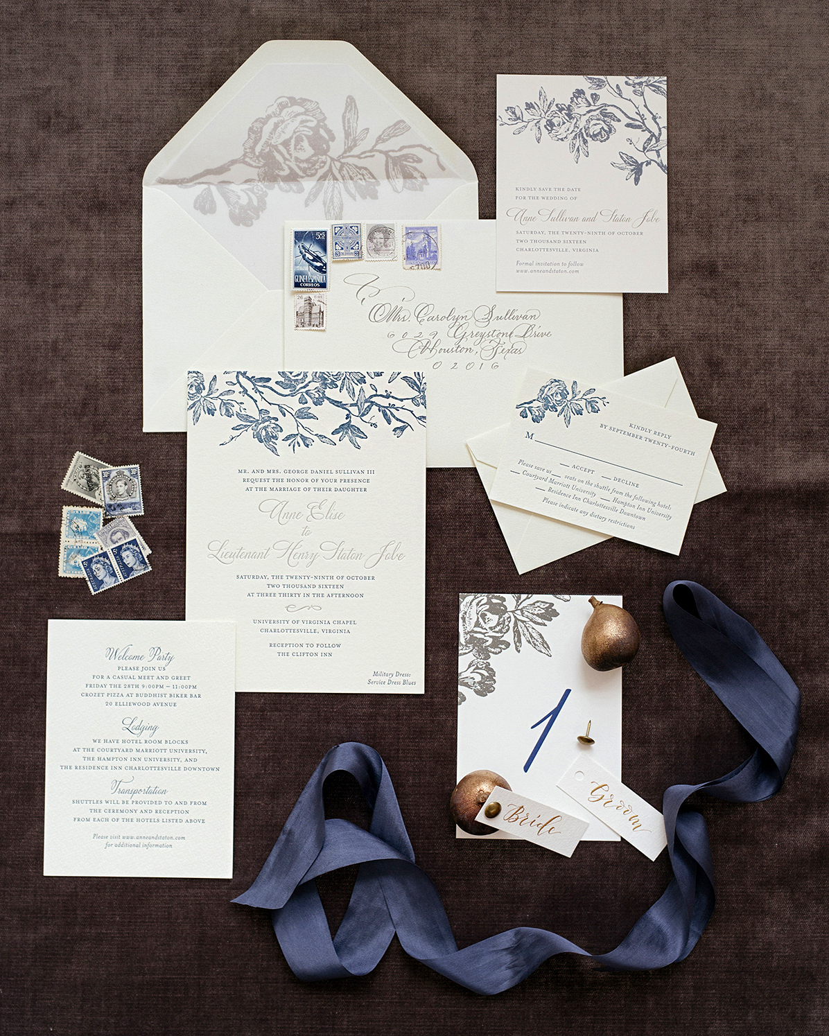 anne and staton wedding stationery